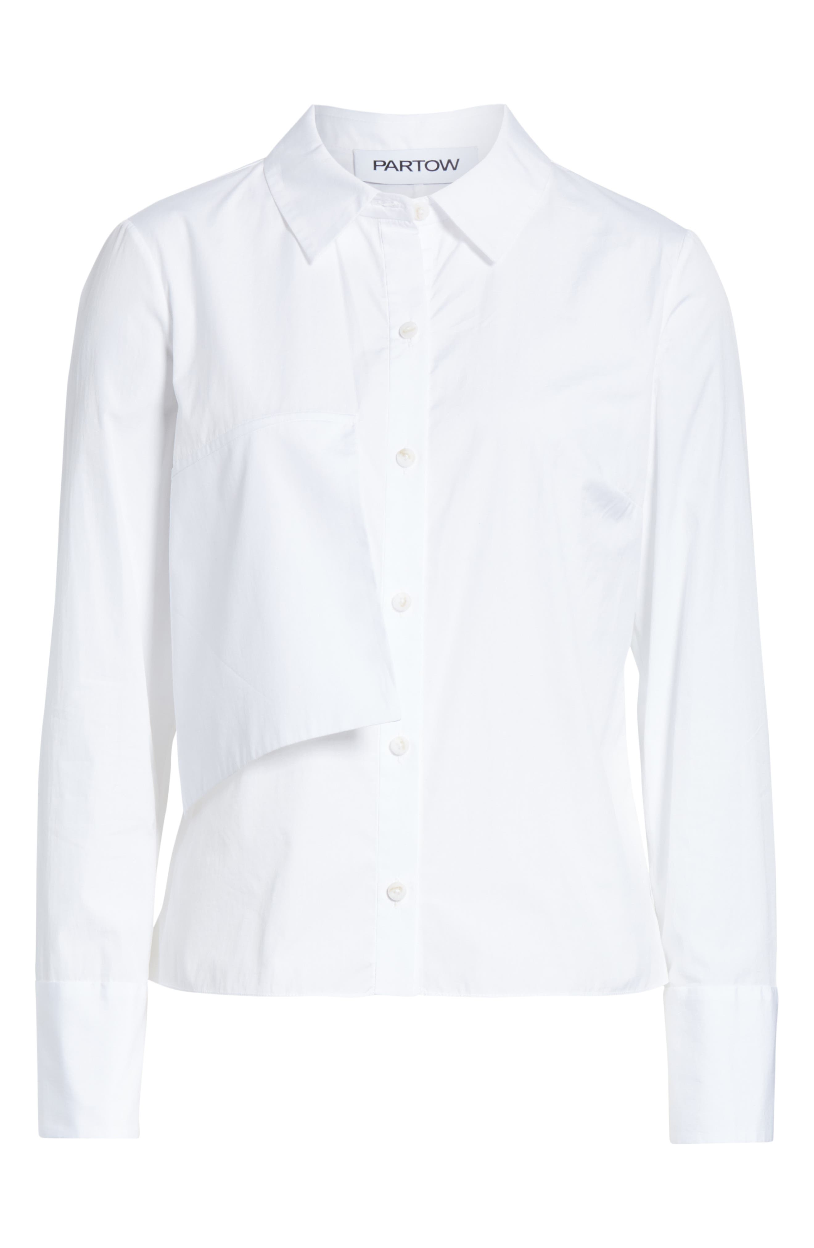 Brushed Cotton Top,                             Alternate thumbnail 6, color,                             WHITE