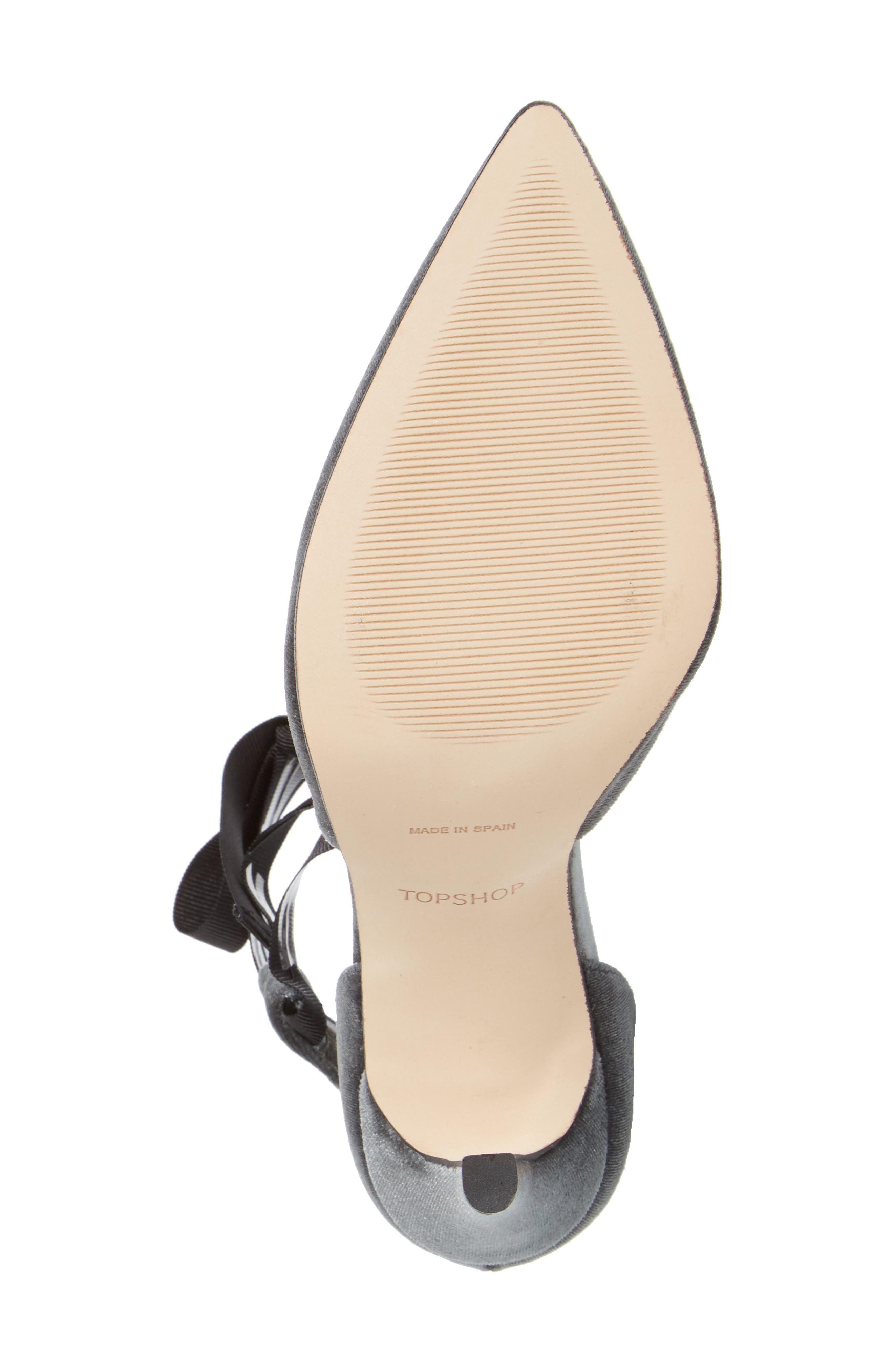 Graceful Ankle Tie d'Orsay Pump,                             Alternate thumbnail 4, color,                             020