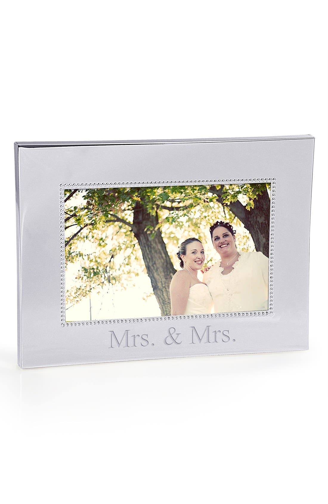 For the Couple Beaded Silver Picture Frame,                             Alternate thumbnail 2, color,                             MRS & MRS