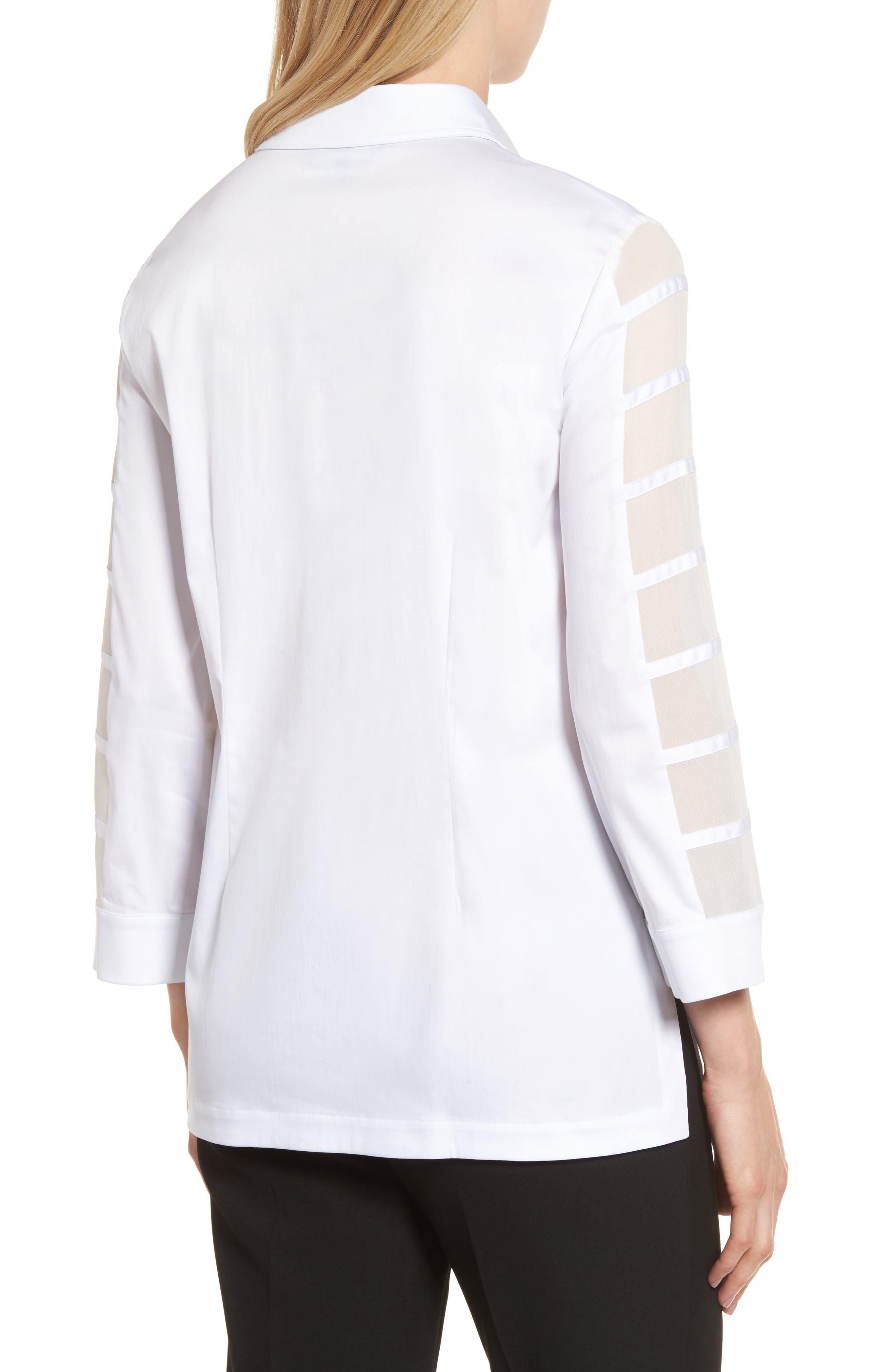 Tiered Sleeve Shirt,                             Alternate thumbnail 2, color,                             100