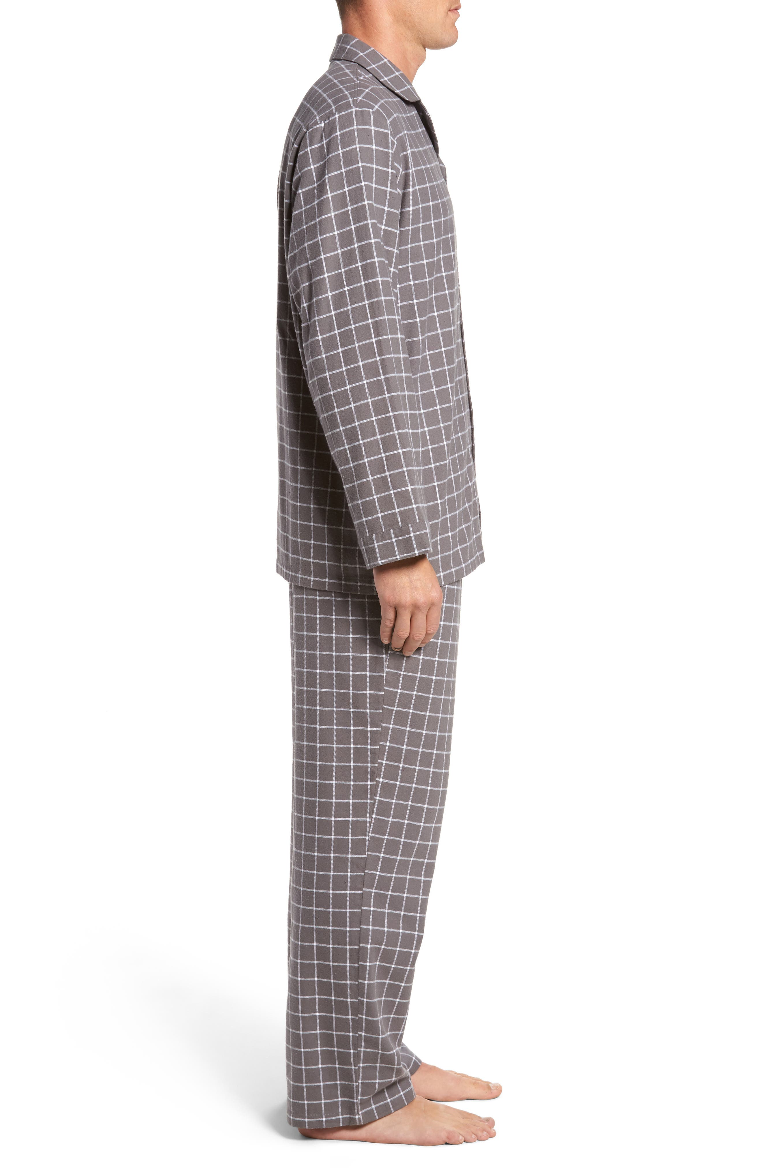 '824' Flannel Pajama Set,                             Alternate thumbnail 58, color,