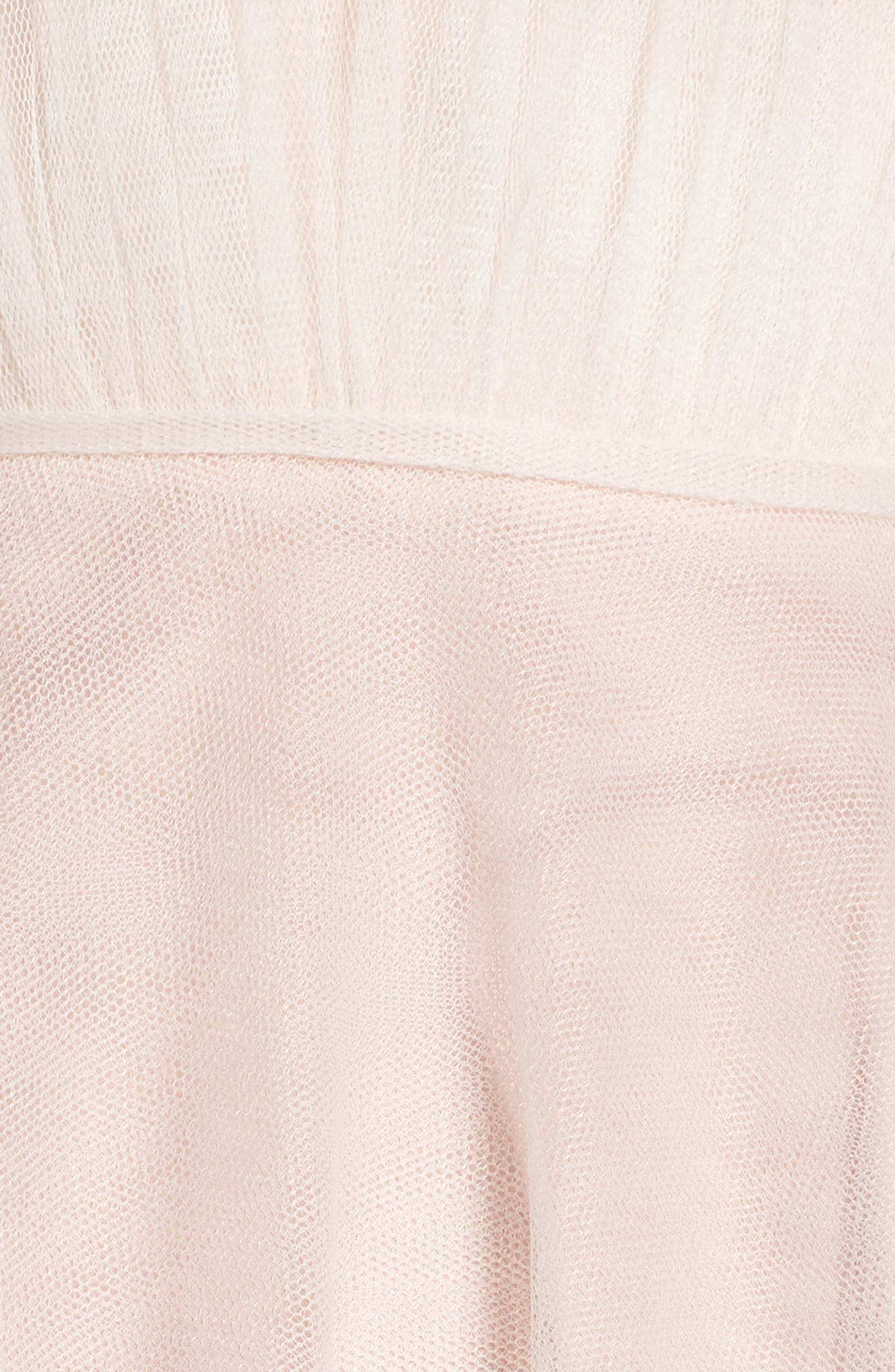 Plunging A-Line Gown,                             Alternate thumbnail 5, color,                             IVORY/TEA ROSE