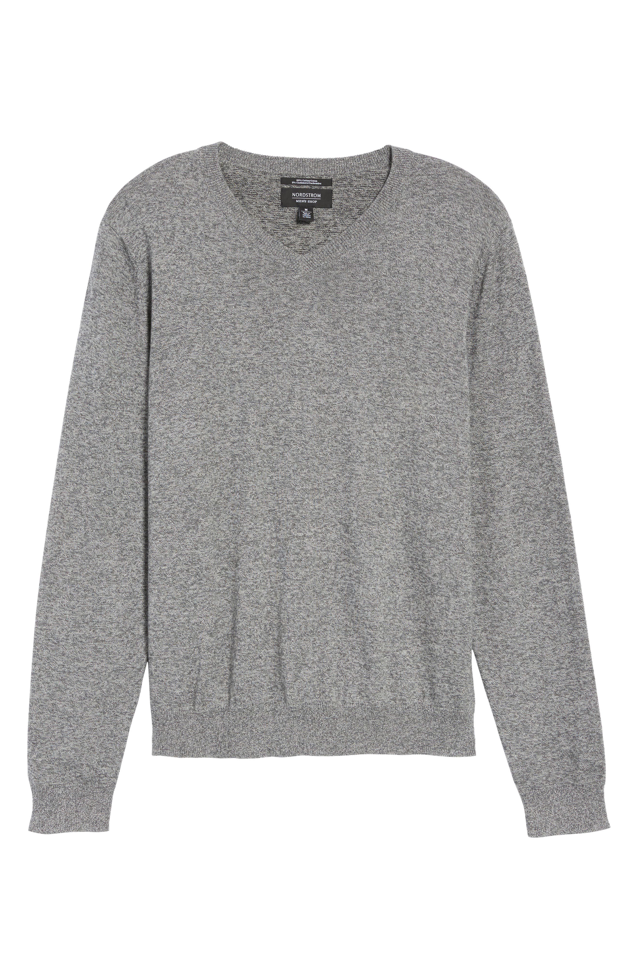 V-Neck Sweater,                             Alternate thumbnail 6, color,                             032