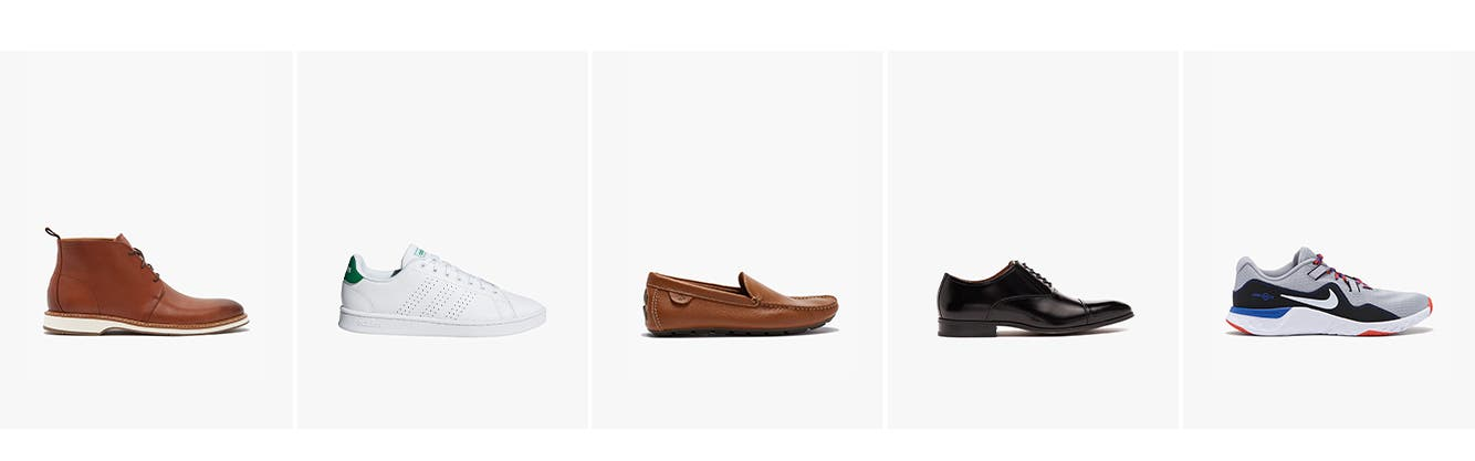 Men's shoes: boots, lifestyle sneakers, loafers & slip-ons, dress shoes, active & running sneakers