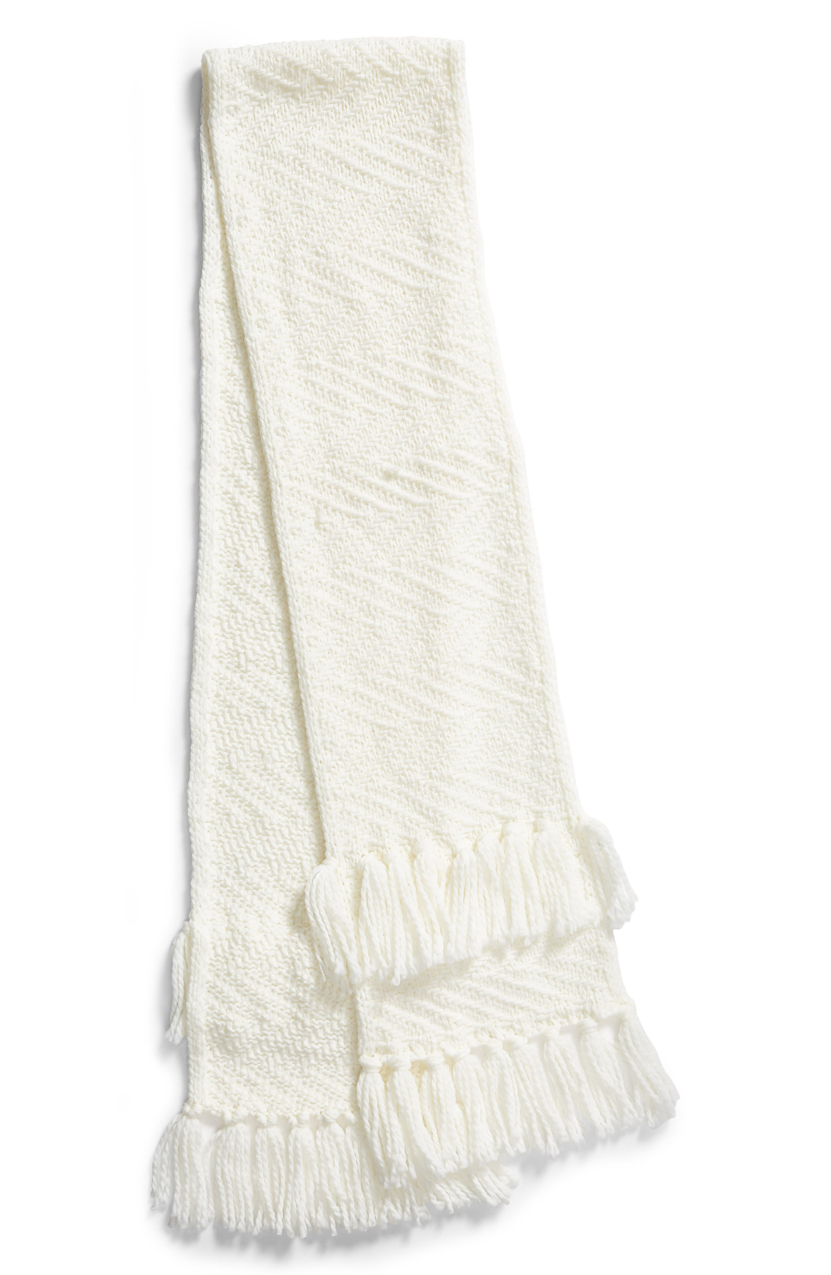 Chunky Zigzag Muffler,                             Alternate thumbnail 3, color,                             IVORY