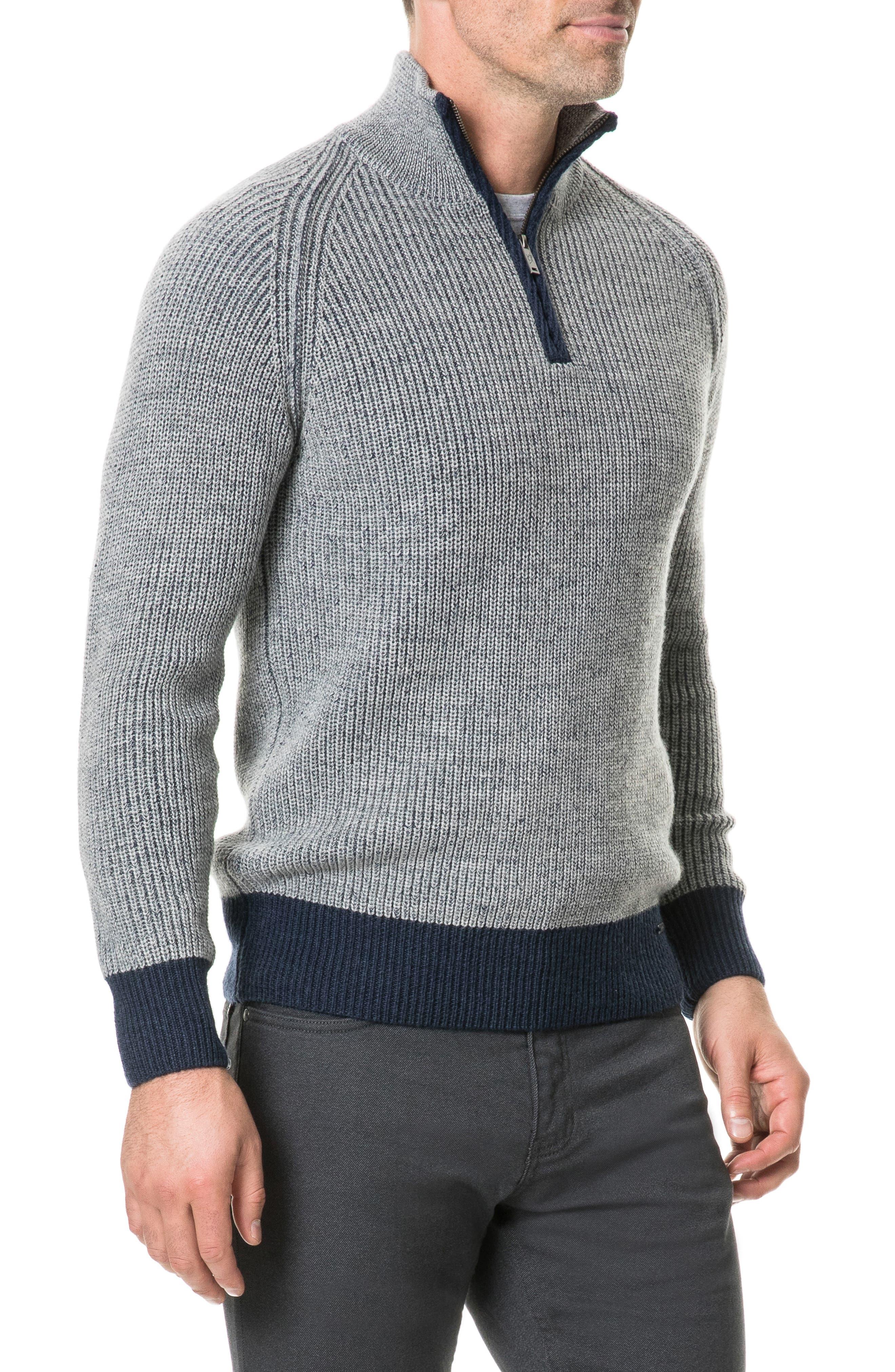 Mackinder Quarter Zip Merino Wool Sweater,                             Alternate thumbnail 3, color,                             268