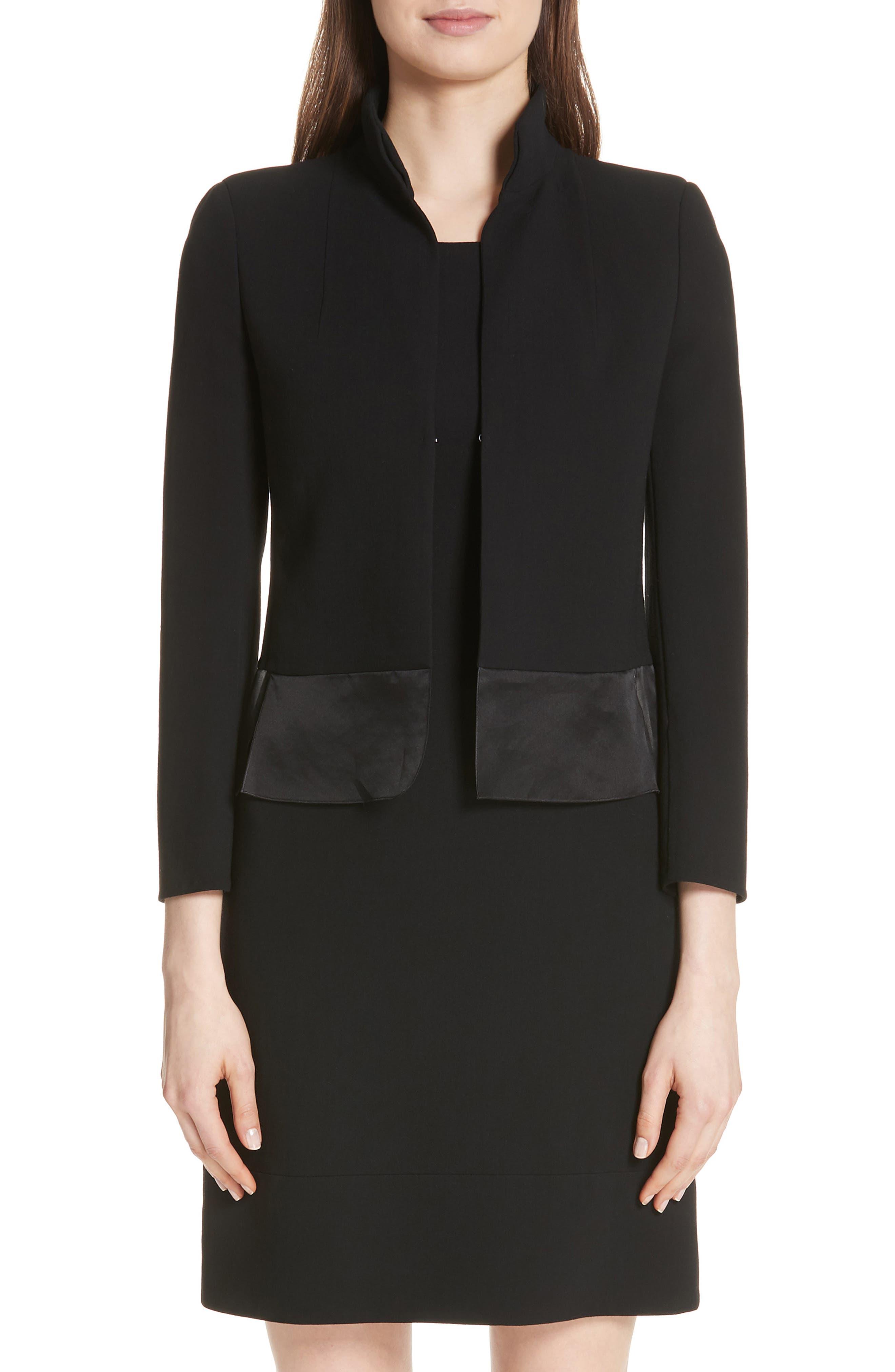 Ilke Double Face Wool Blend Jacket,                         Main,                         color, BLACK