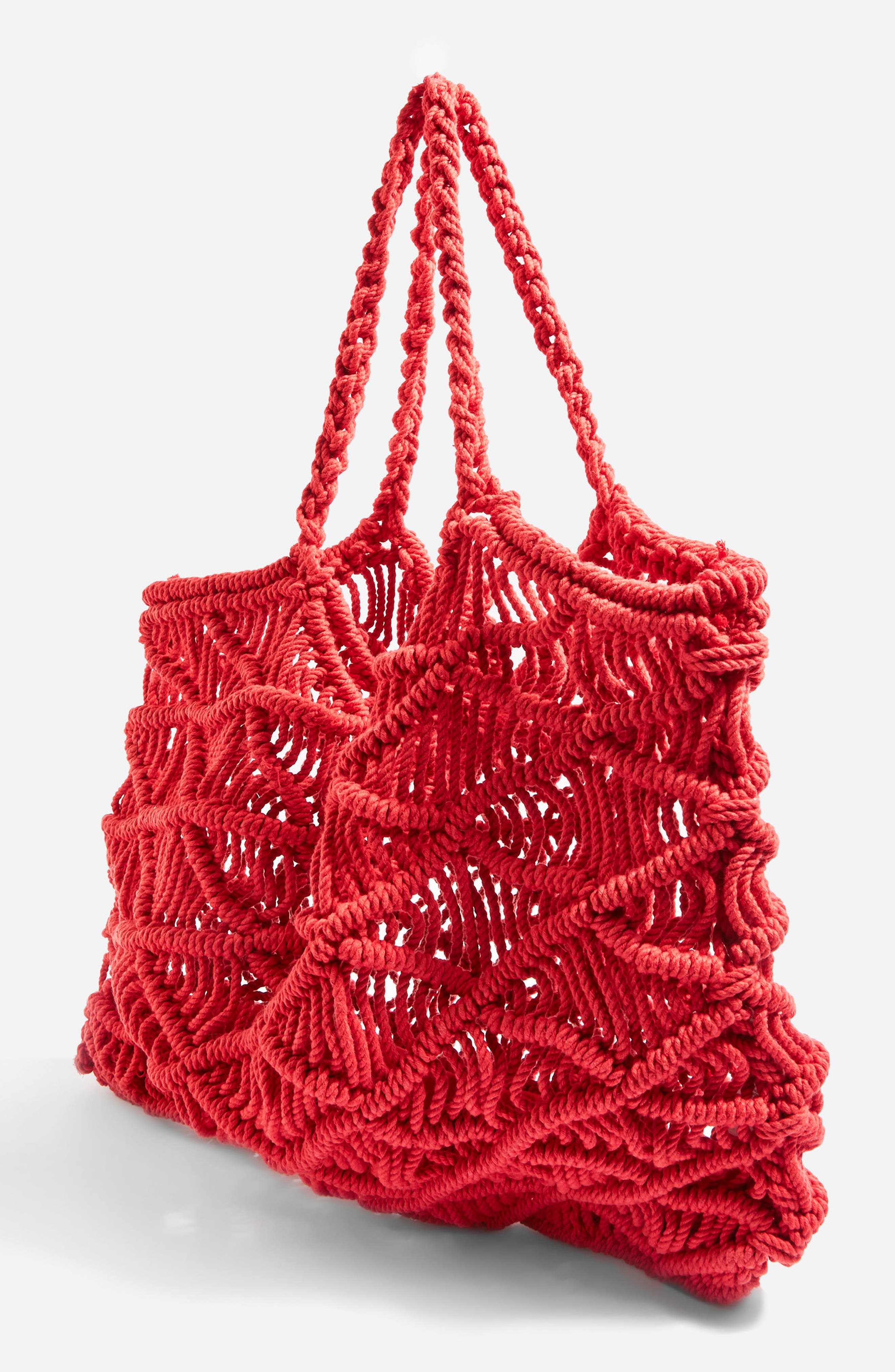Macramé Tote Bag,                             Alternate thumbnail 3, color,                             600