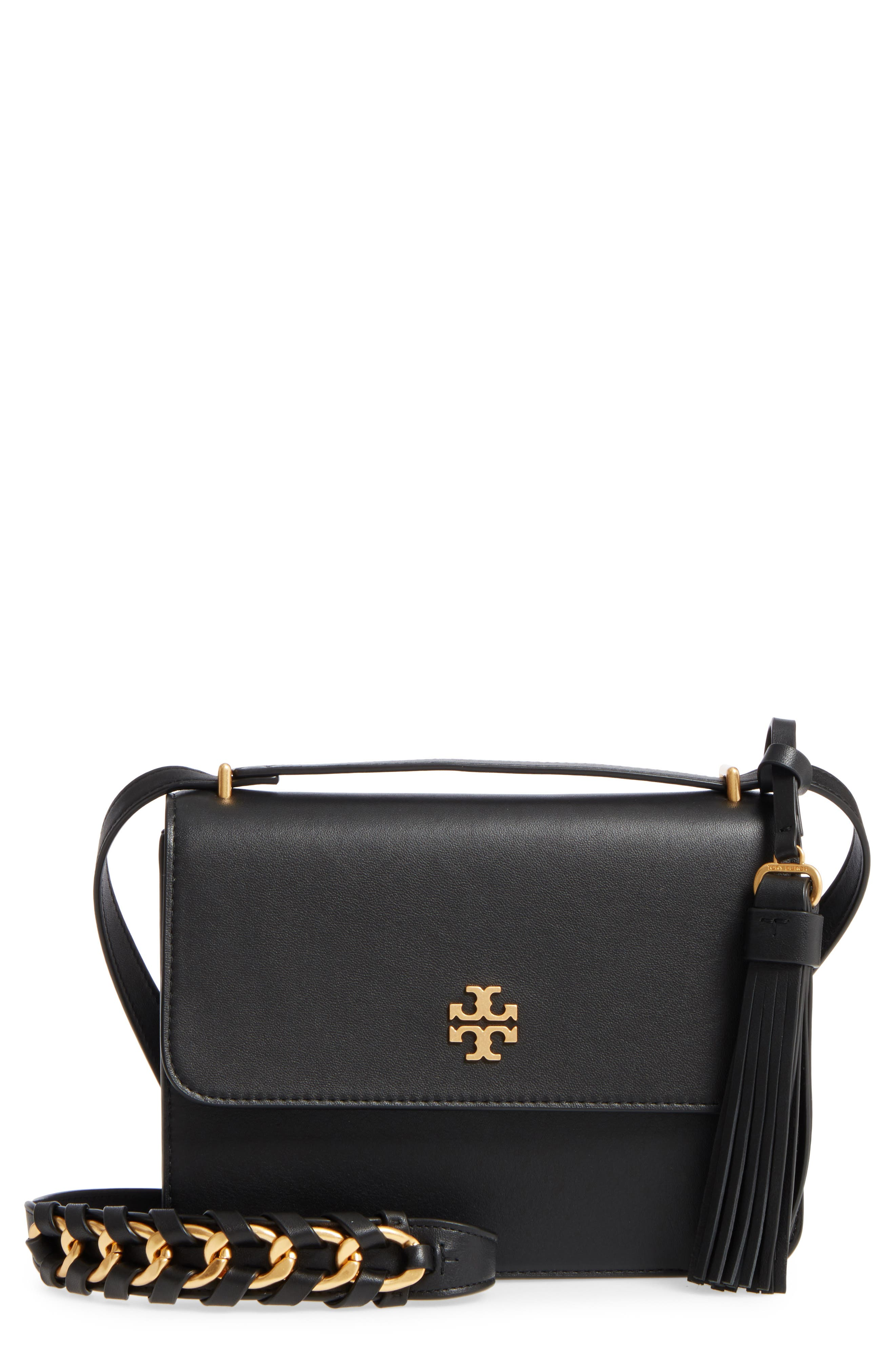 Brooke Leather Crossbody Bag,                         Main,                         color, 001