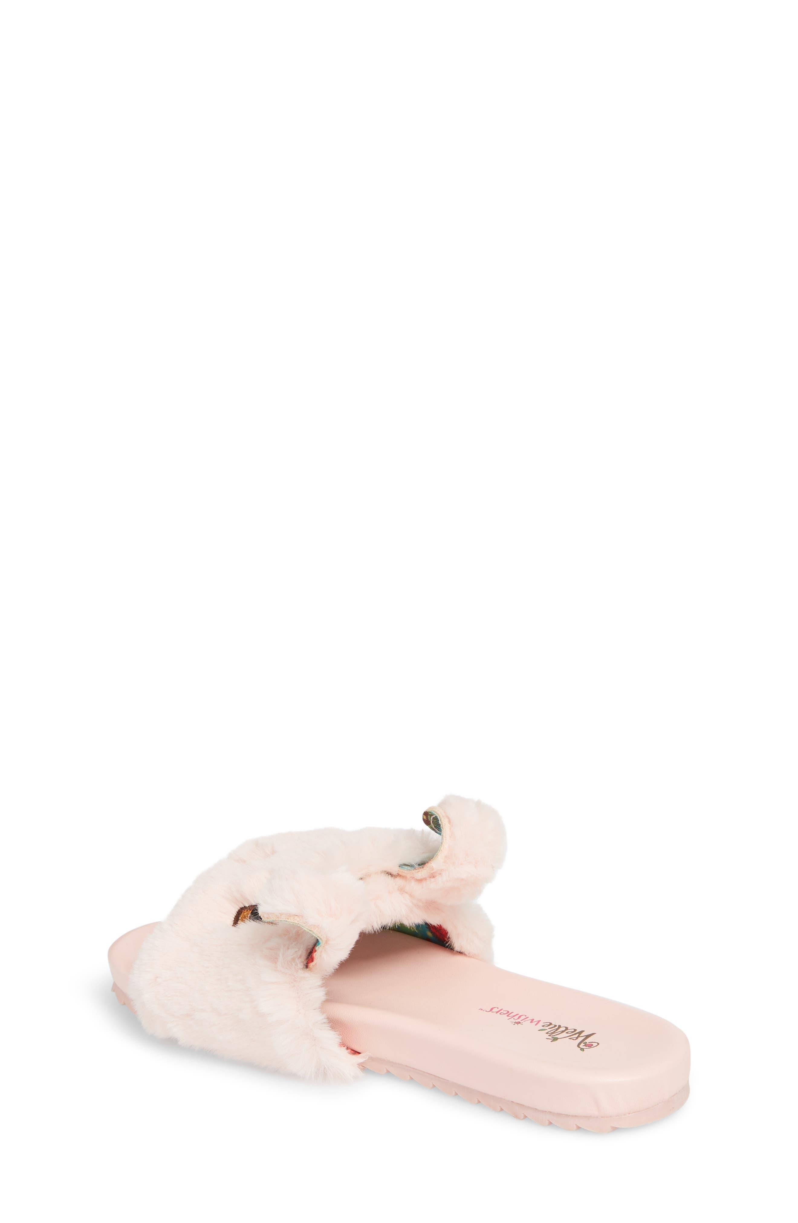 Willa Carrot Faux Fur Slide Sandal,                             Alternate thumbnail 2, color,                             650
