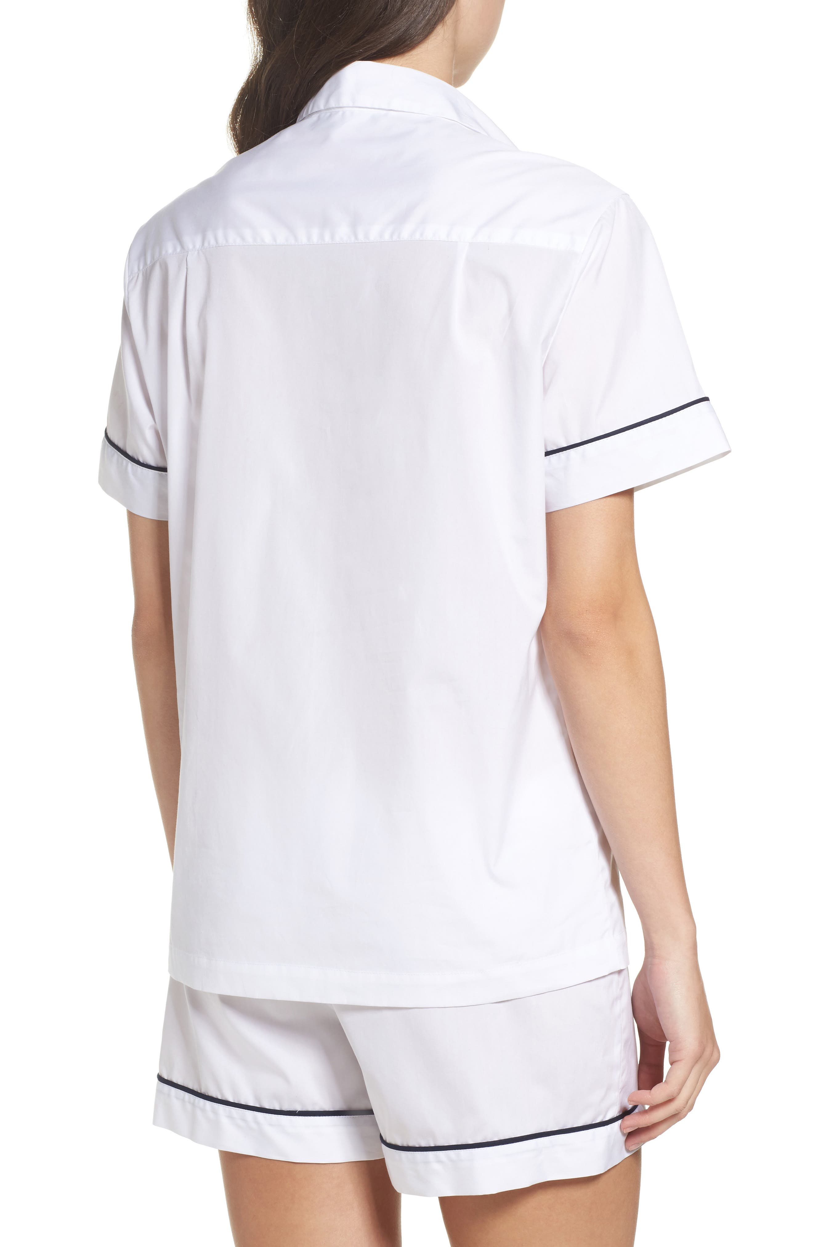 Piped Sleep Shirt,                             Alternate thumbnail 2, color,                             100