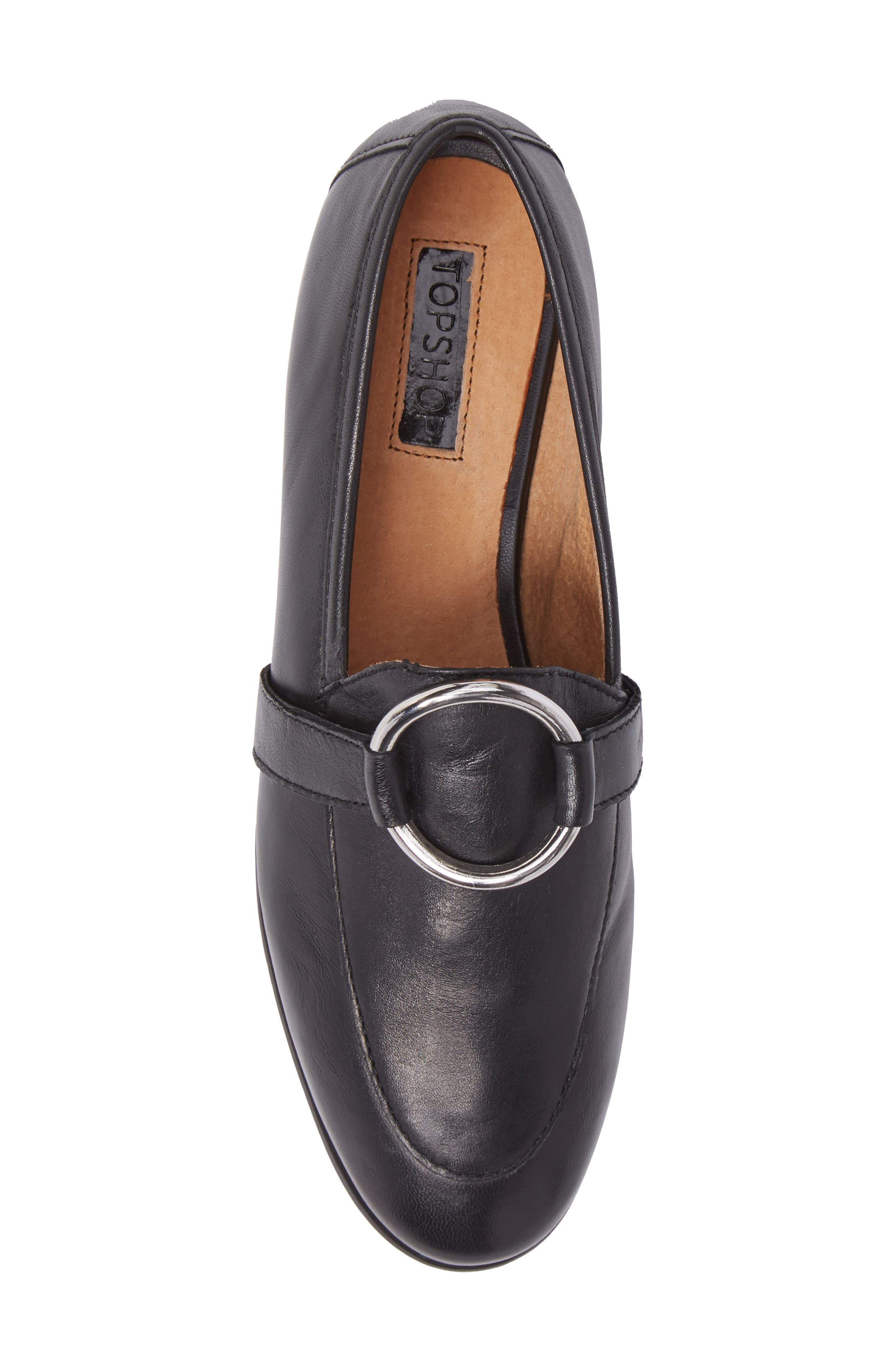 TOPSHOP,                             Kreme Ring Loafer,                             Alternate thumbnail 5, color,                             001