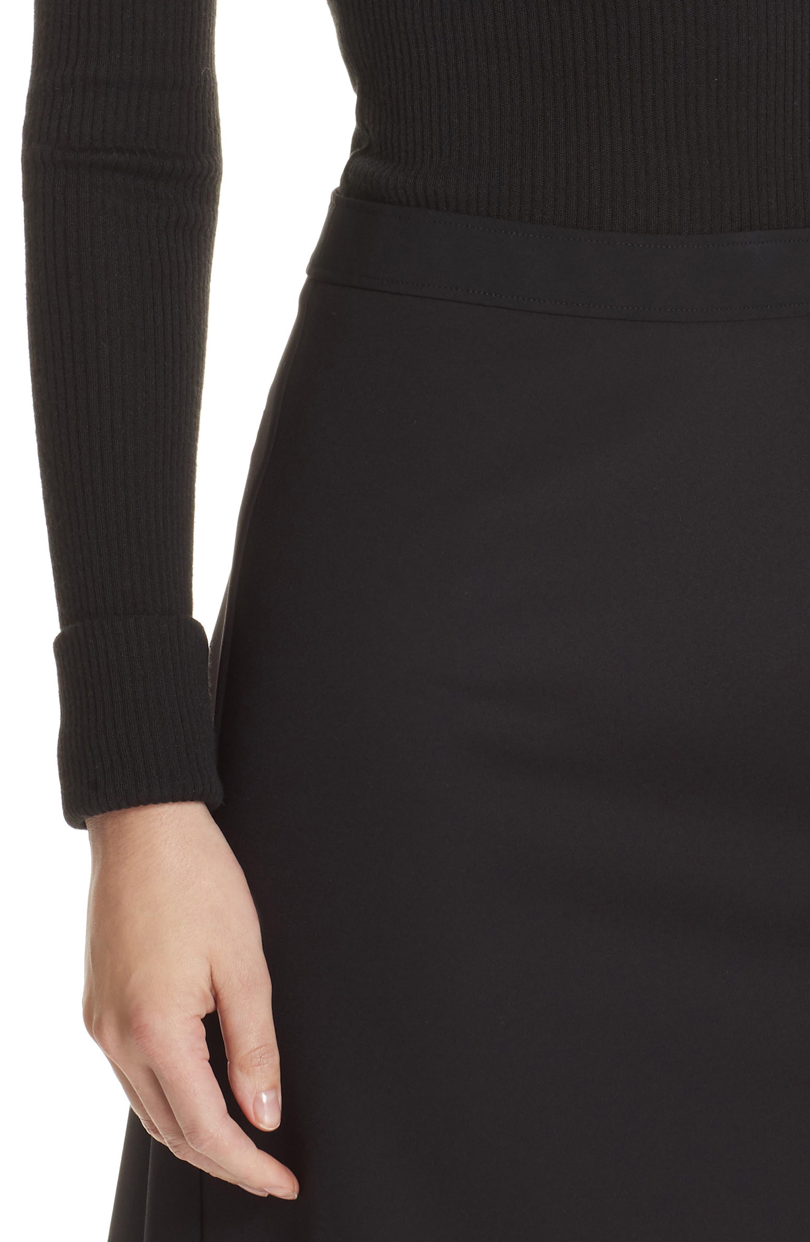 Combo Mock Neck Sweater Dress,                             Alternate thumbnail 4, color,                             001