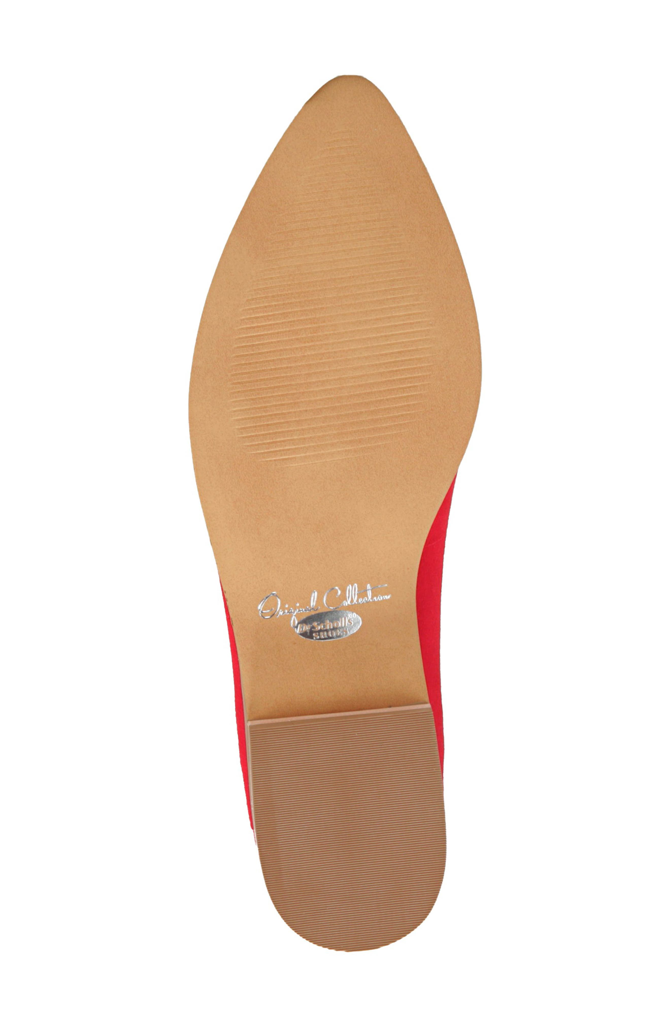 Dr. Scholls Flair Flat,                             Alternate thumbnail 6, color,                             RED LEATHER