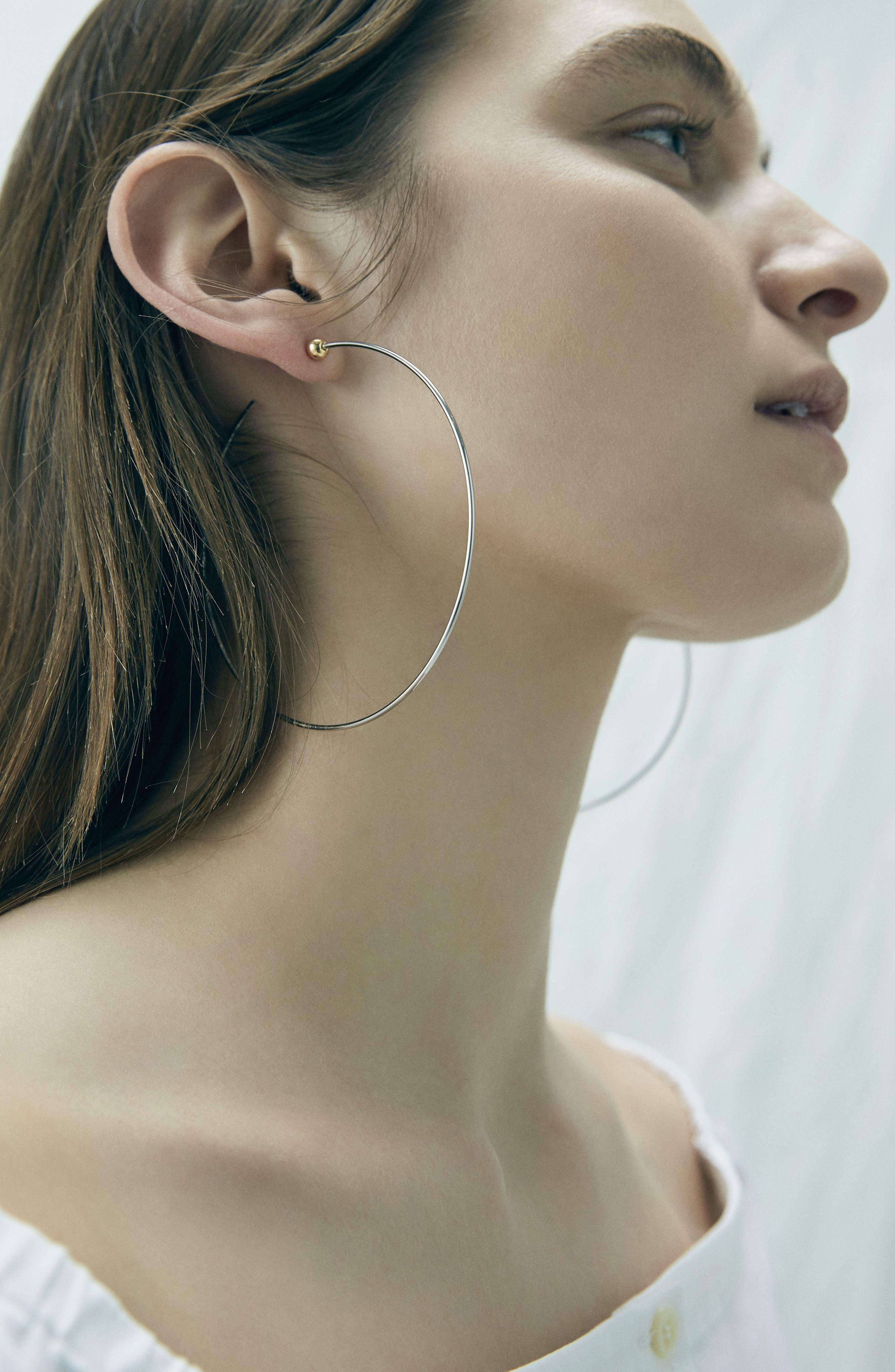 Large Icon Hoop Earrings,                             Alternate thumbnail 4, color,                             712