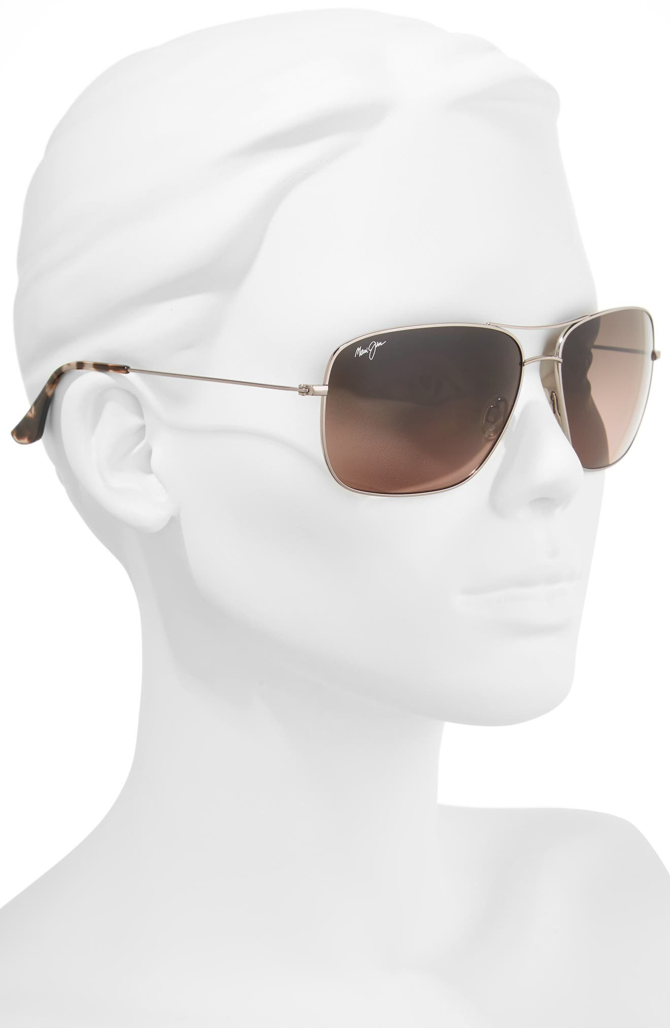 Cook Pines 63mm Polarized Titanium Aviator Sunglasses,                             Alternate thumbnail 7, color,