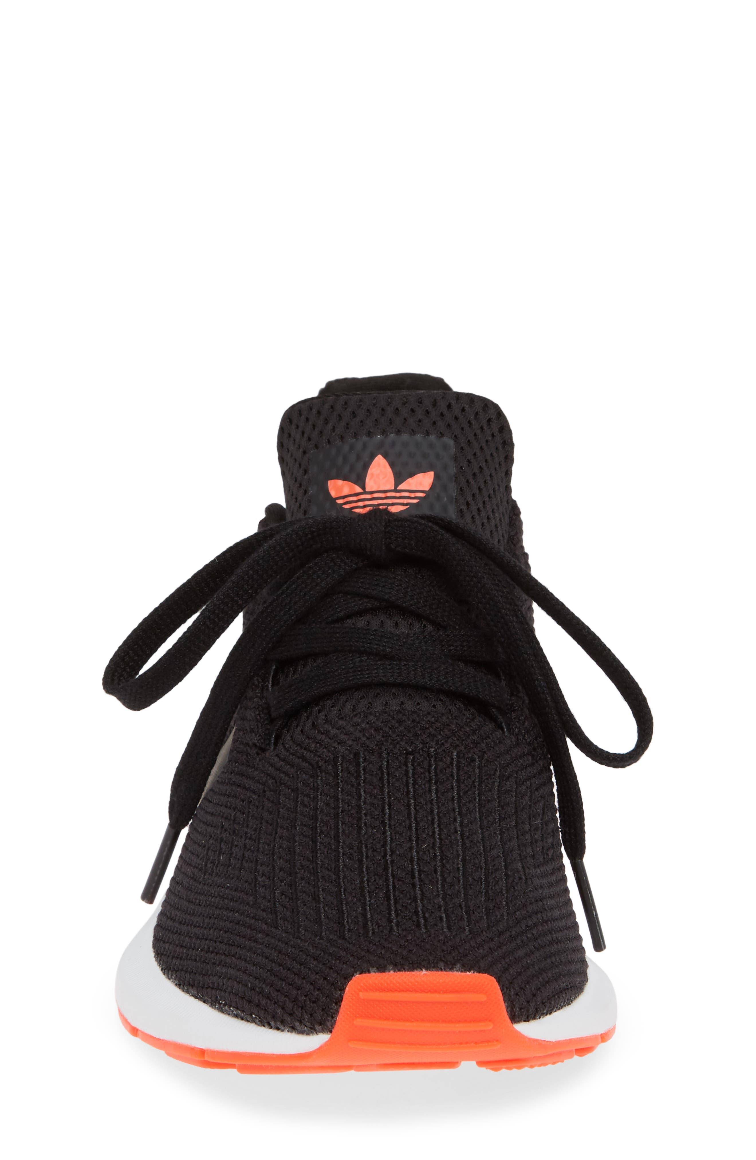 Swift Run J Sneaker,                             Alternate thumbnail 4, color,                             BLACK/ BLACK/ SOLAR RED