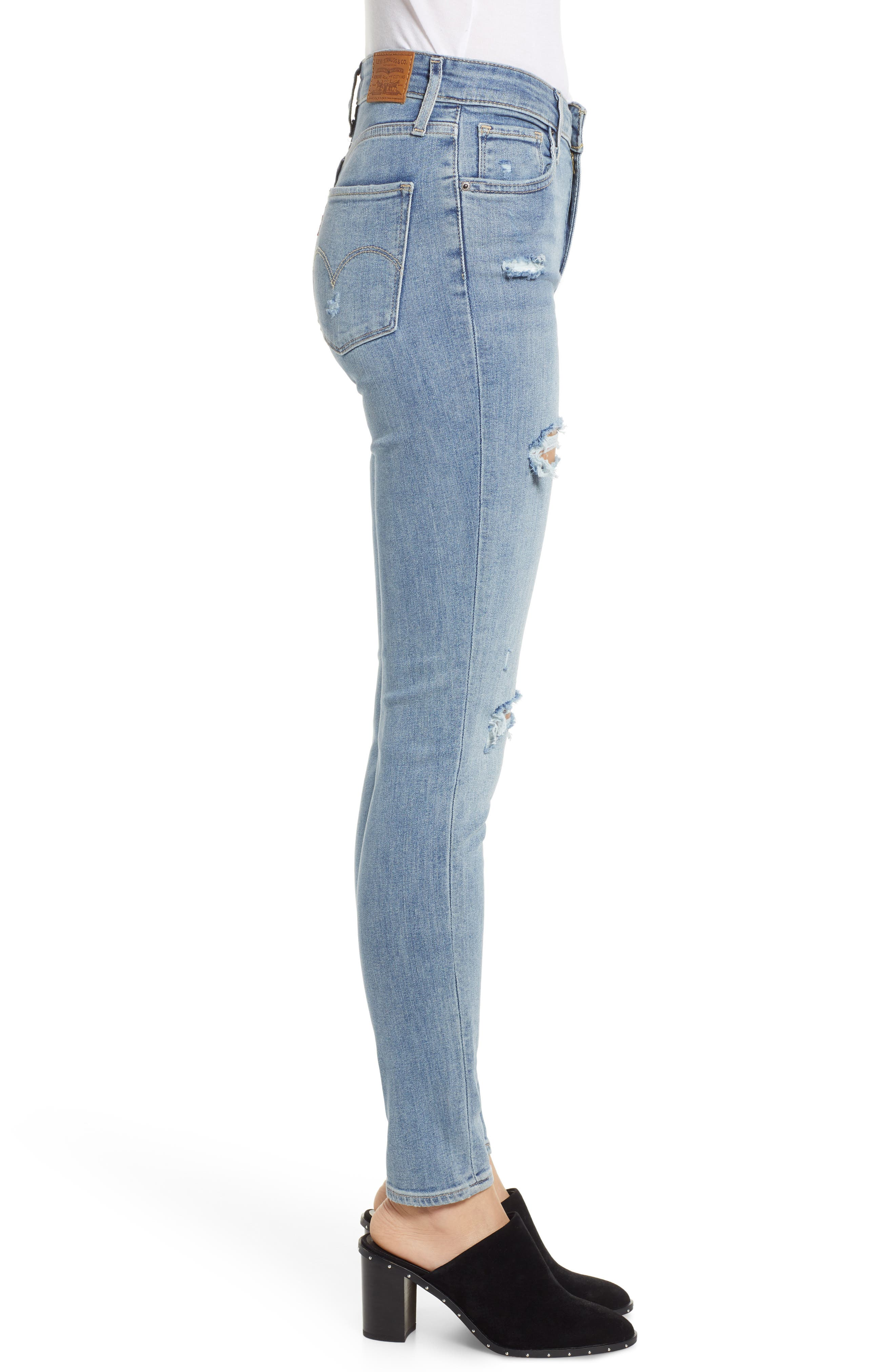 721<sup>™</sup> High Waist Skinny Jeans,                             Alternate thumbnail 3, color,                             SAY ANYTHING