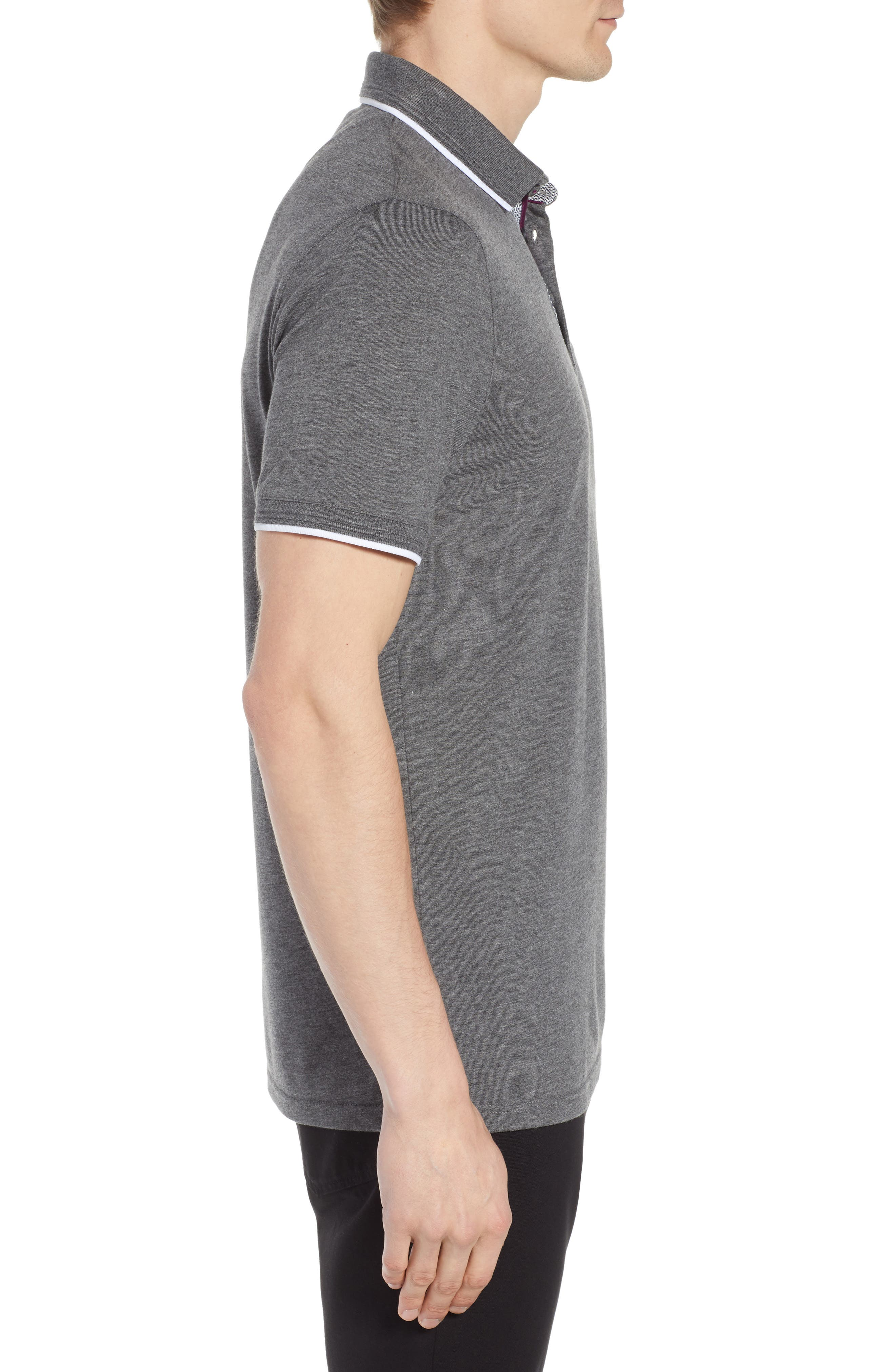 Derry Modern Slim Fit Polo,                             Alternate thumbnail 3, color,                             021