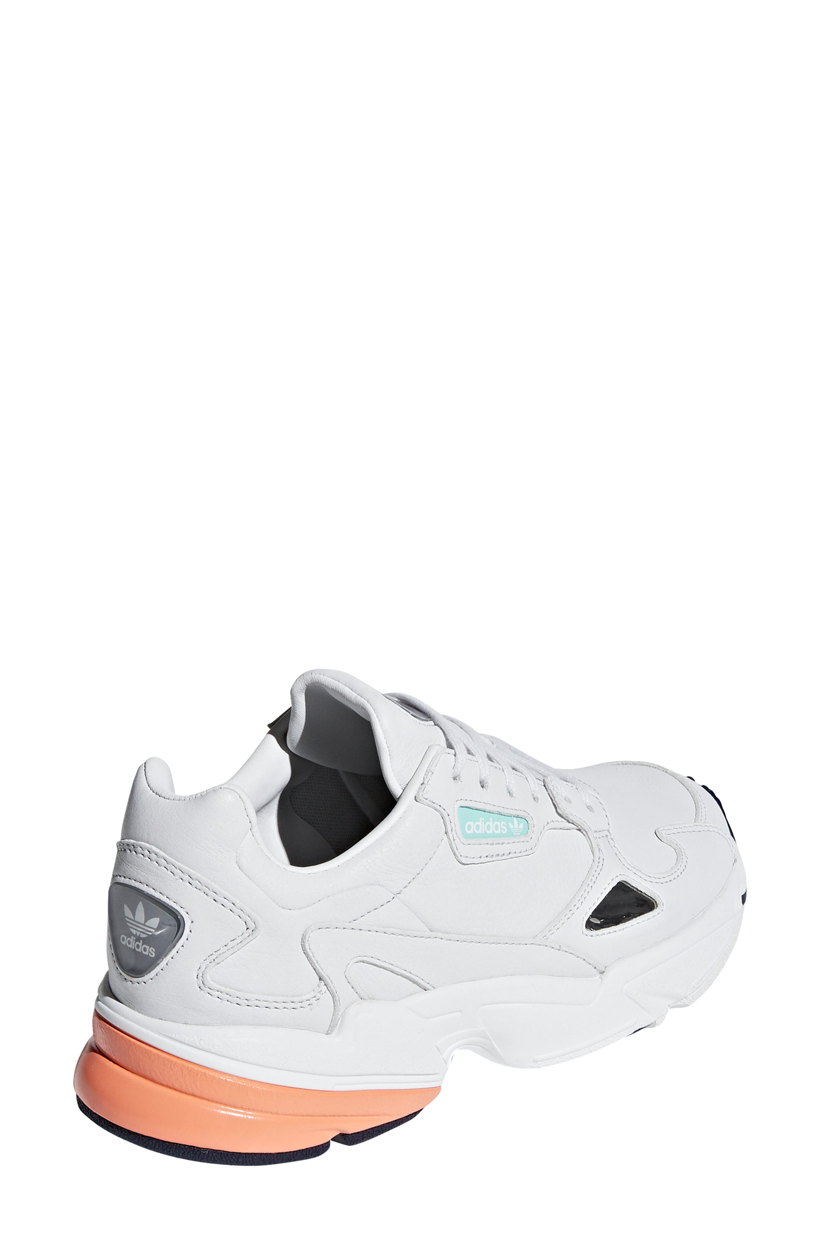 Falcon Sneaker,                             Alternate thumbnail 2, color,                             CRYSTAL WHITE/ EASY ORANGE