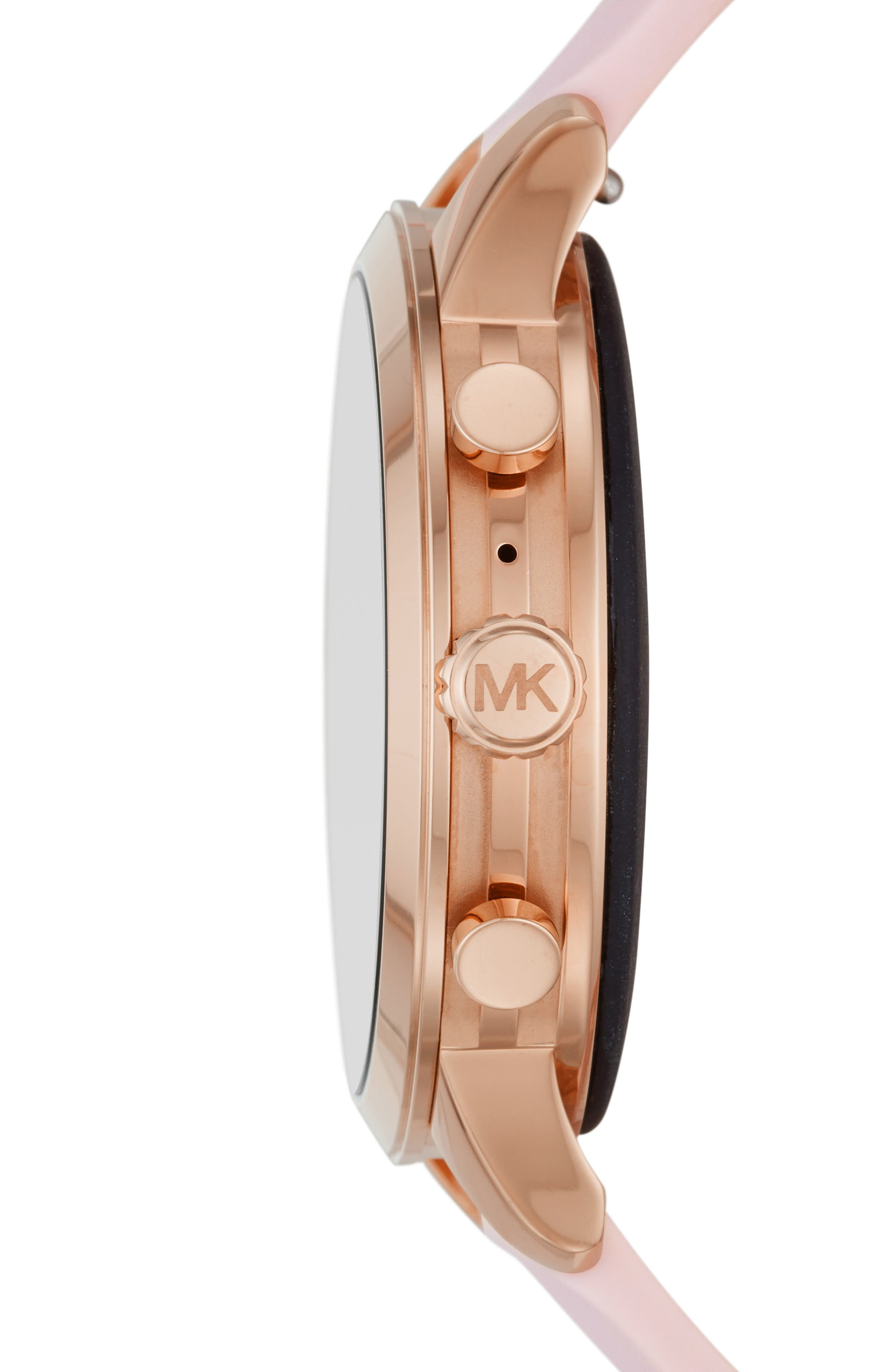 MICHAEL KORS,                             MICHAEL Michael Kors Access Runway Smart Watch, 41mm,                             Alternate thumbnail 3, color,                             PINK/ ROSE GOLD