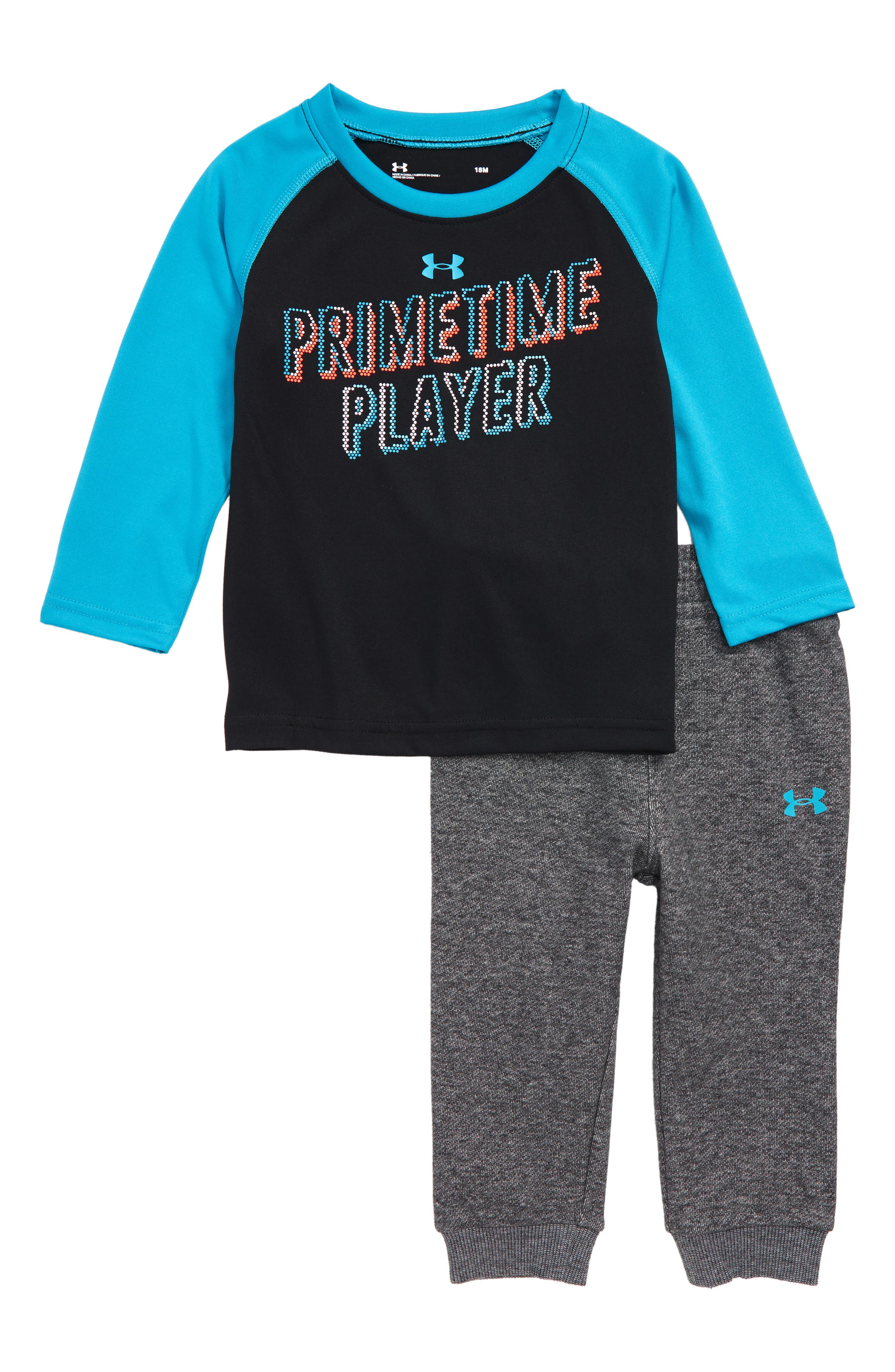Primetime Player T-Shirt & Sweatpants Set,                             Main thumbnail 1, color,                             001