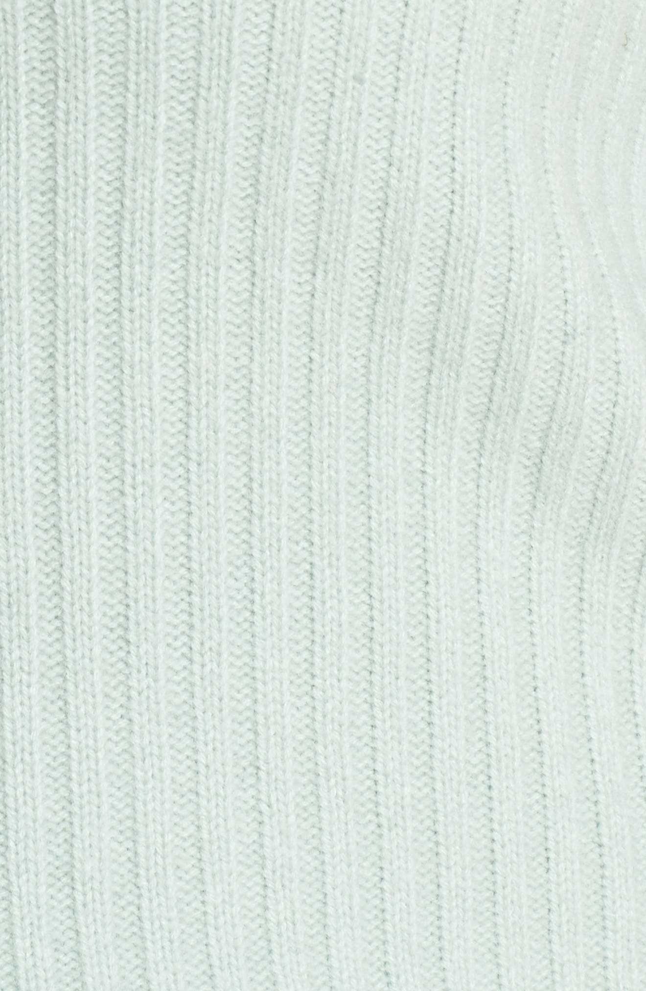x Atlantic-Pacific Balloon Sleeve Wool & Cashmere Sweater,                             Alternate thumbnail 5, color,                             GREEN FROZEN