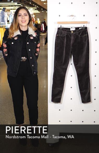 Velveteen High Waist Ankle Skinny Pants, sales video thumbnail