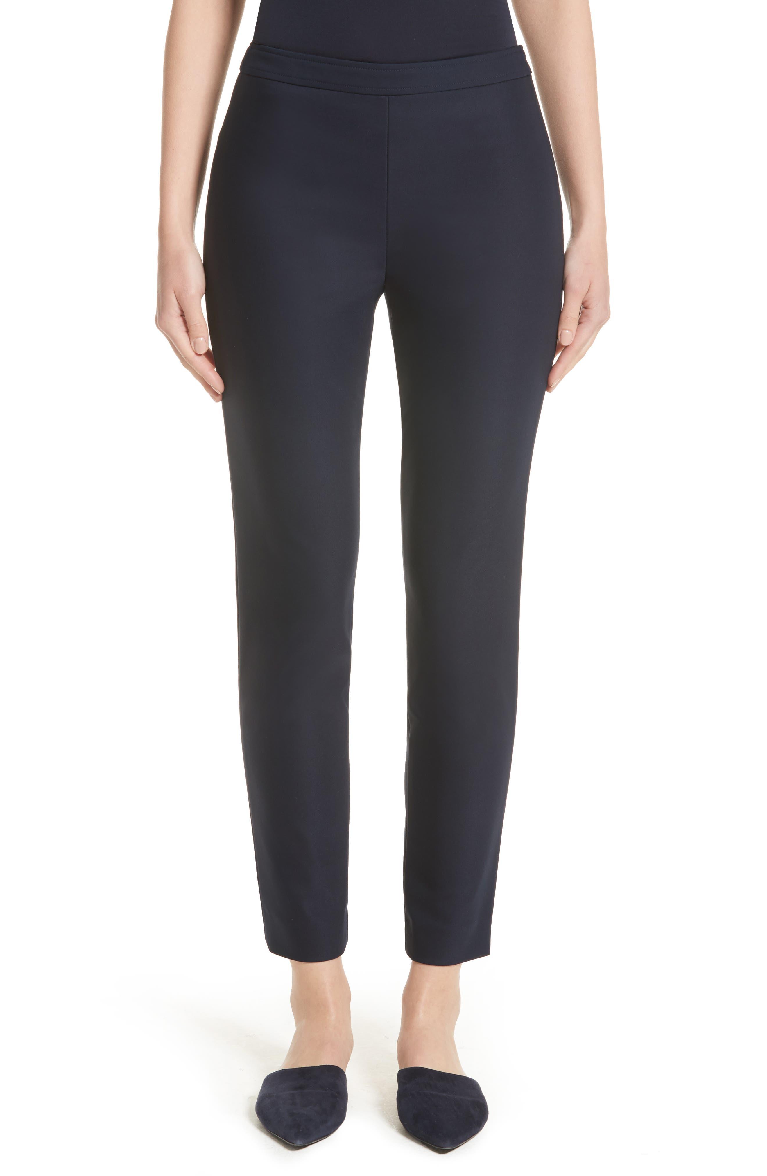Alexa Scuba Slim Crop Pants,                         Main,                         color, NAVY