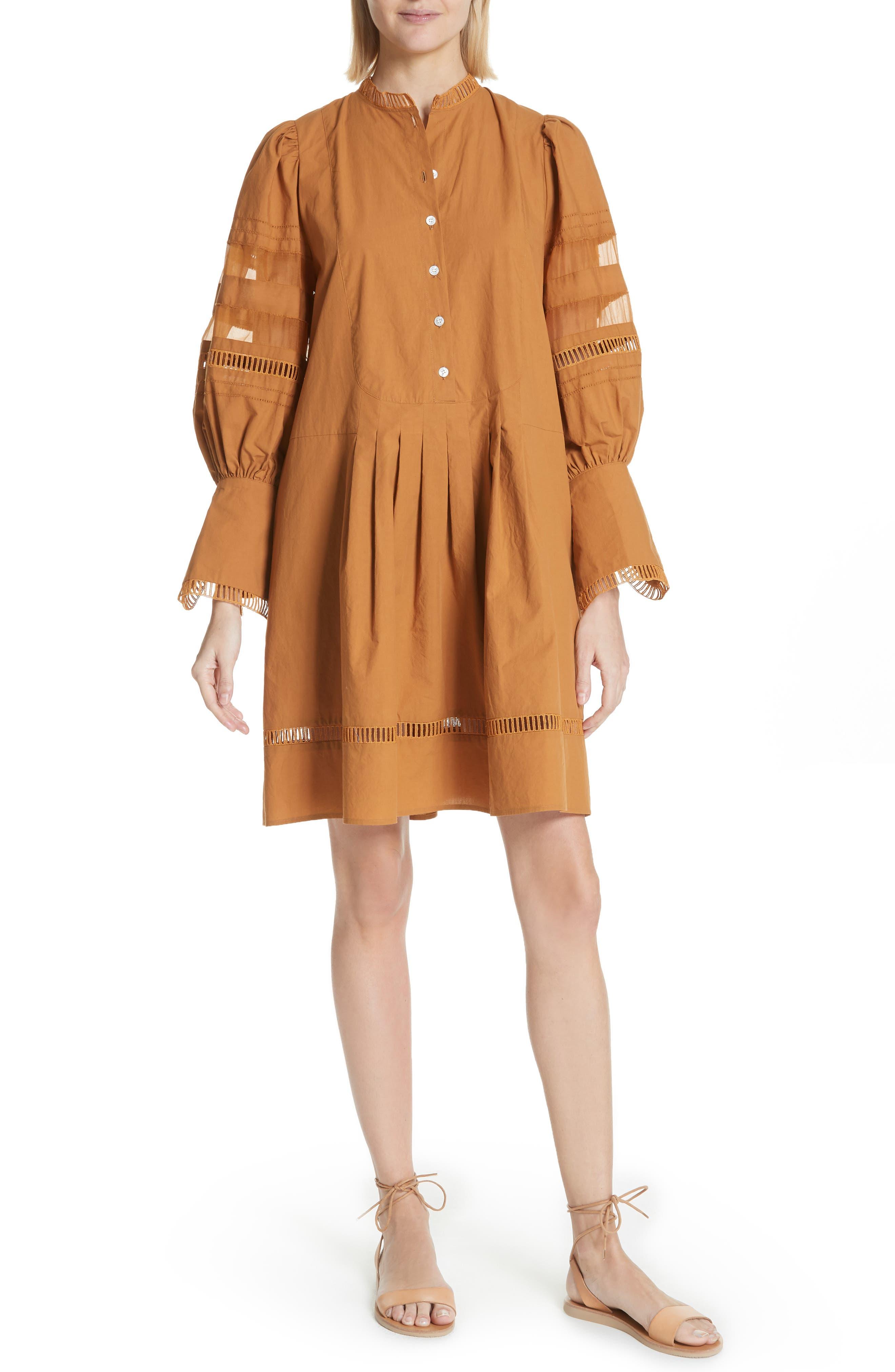 Capri Ladder Stitch Trim Dress,                             Main thumbnail 1, color,                             205