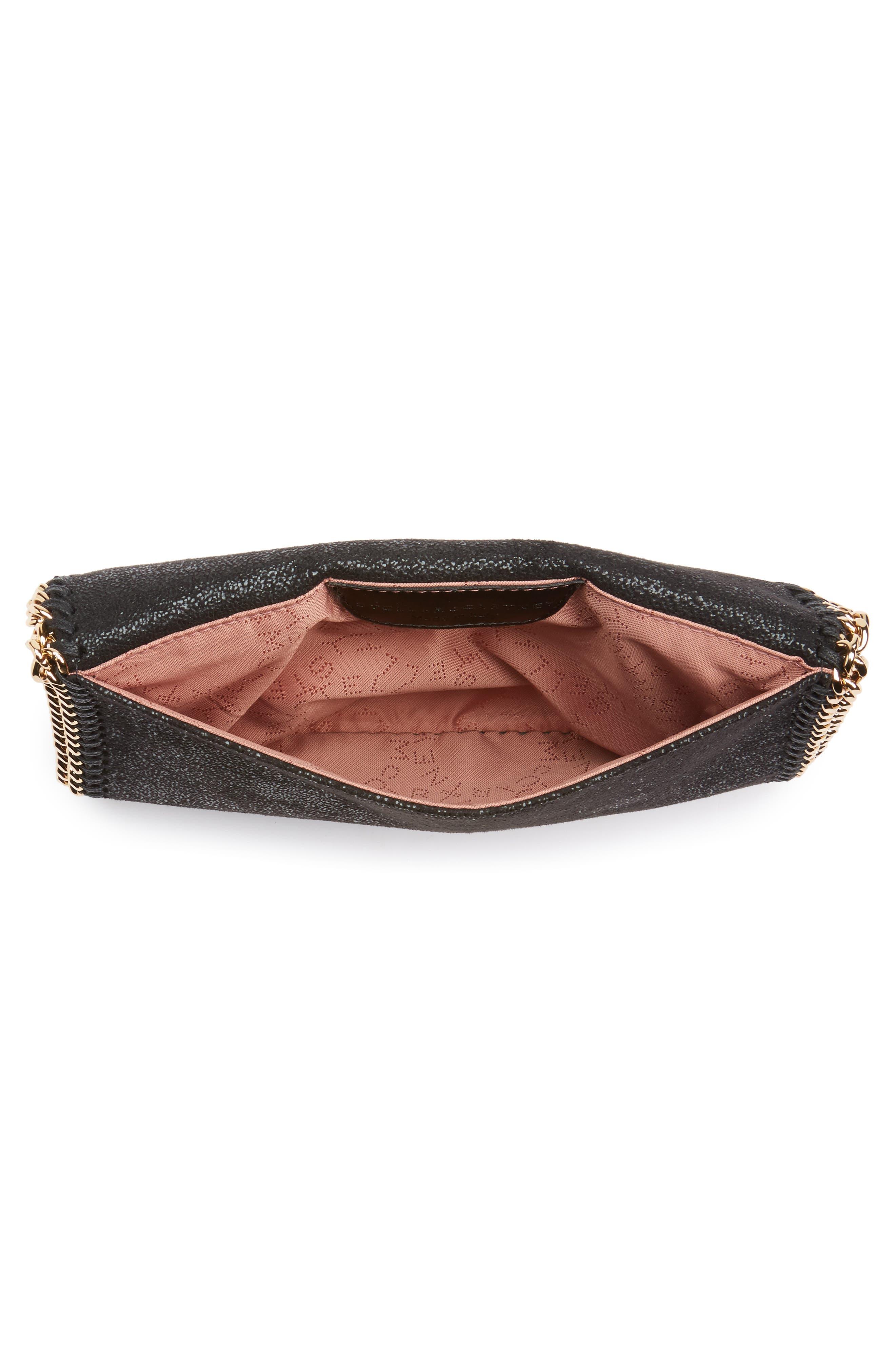 Mini Falabella - Shaggy Deer Faux Leather Crossbody Bag,                             Alternate thumbnail 4, color,                             001