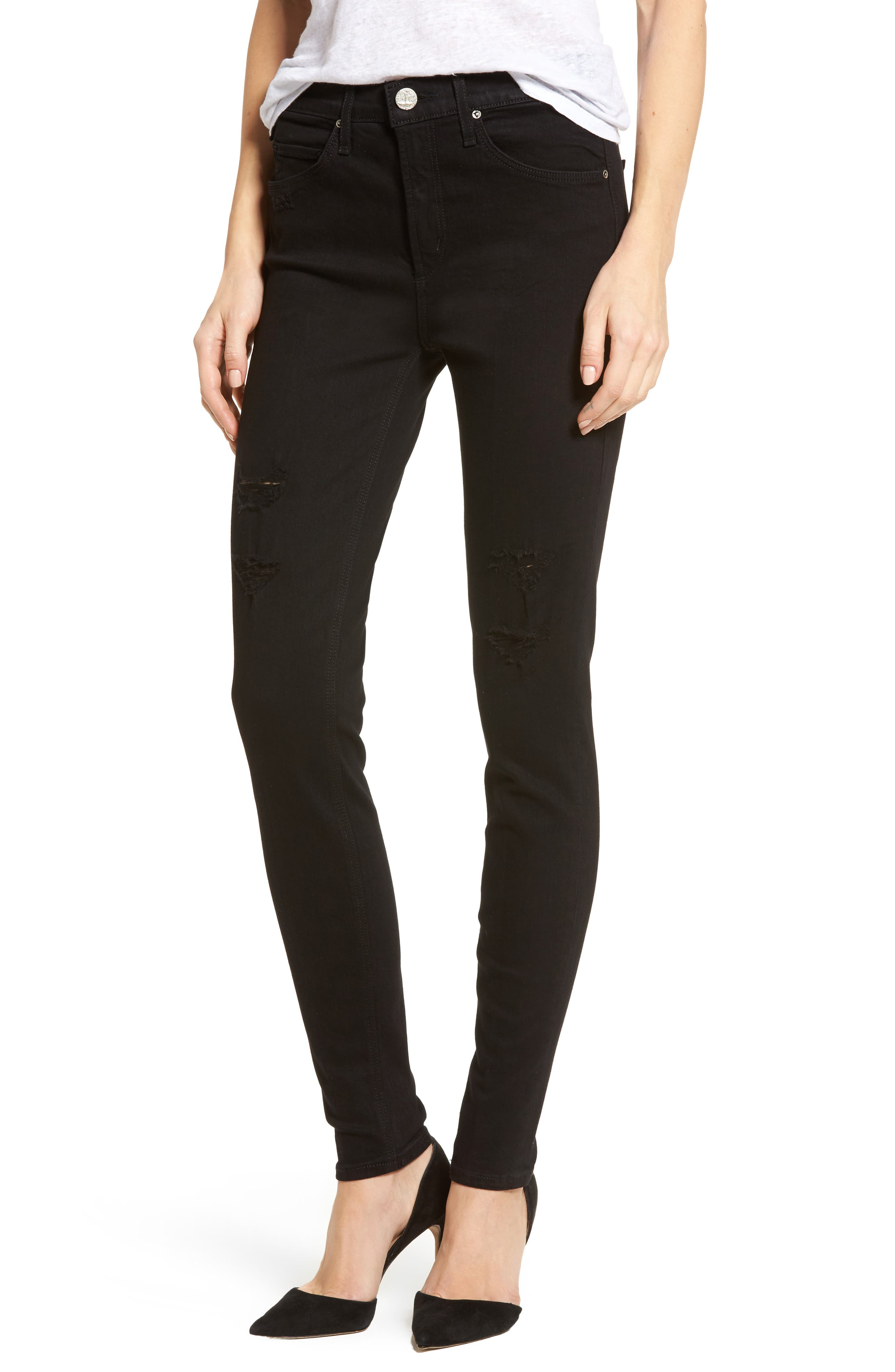 Newton Ankle Skinny Jeans,                             Main thumbnail 1, color,                             001