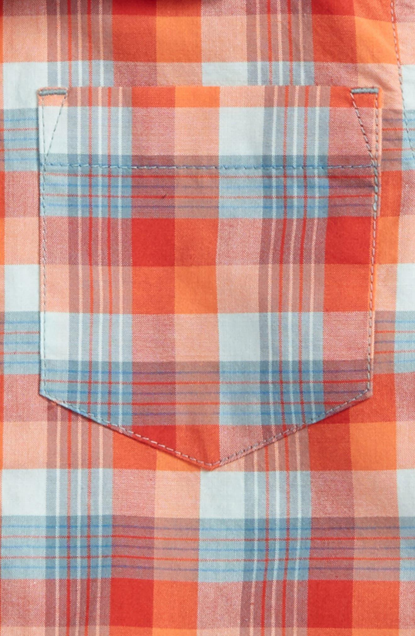 Plaid Short Sleeve Shirt,                             Alternate thumbnail 2, color,                             618