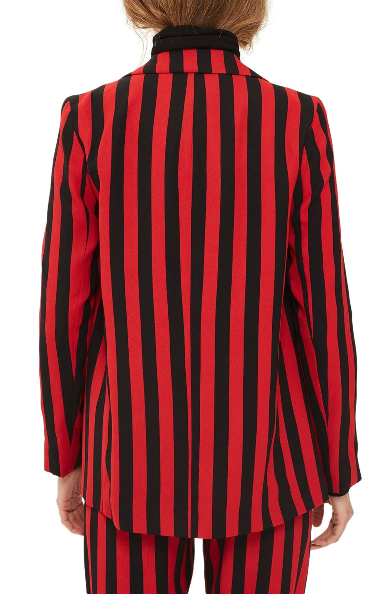 Humbug Stripe Double Breasted Blazer,                             Alternate thumbnail 2, color,                             601