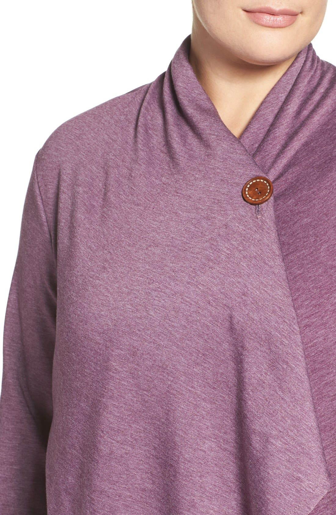 One-Button Fleece Cardigan,                             Alternate thumbnail 162, color,