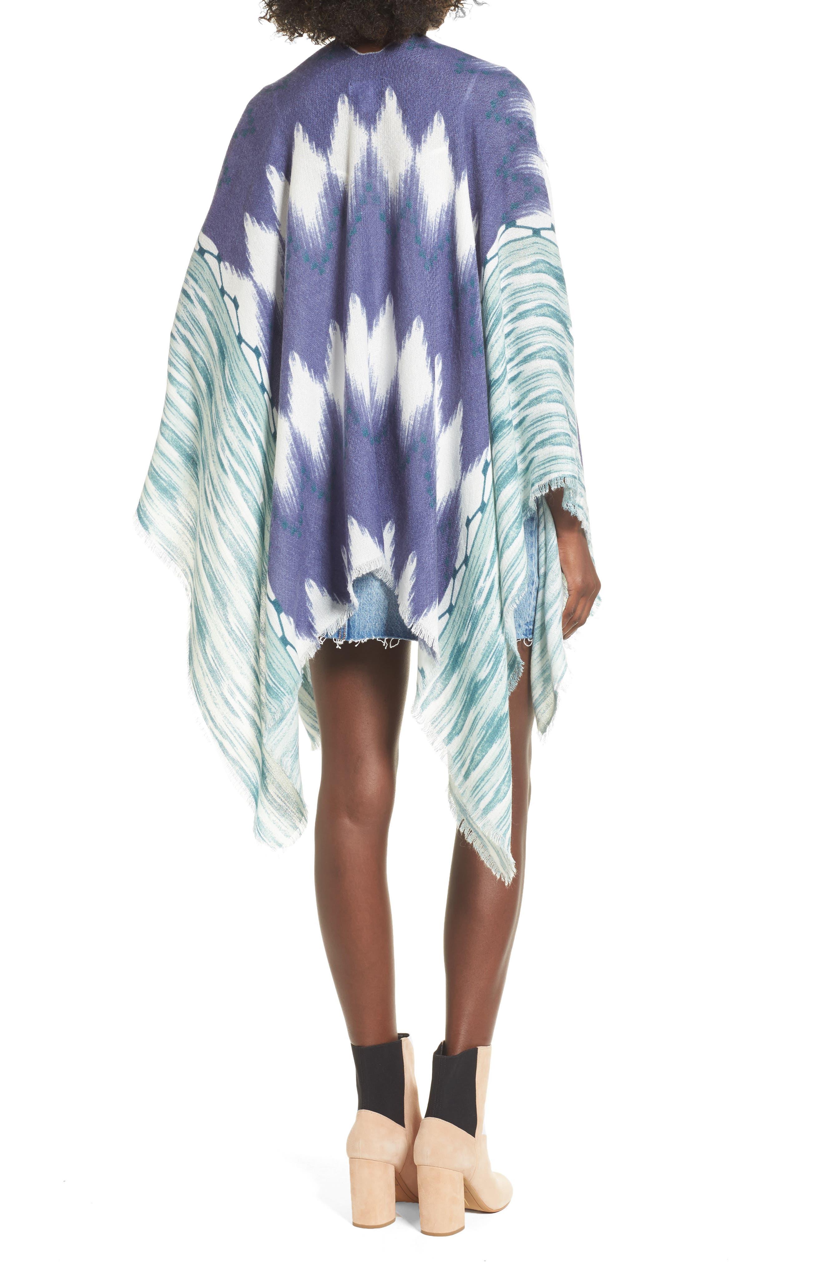Ikat Kimono Scarf,                             Alternate thumbnail 2, color,