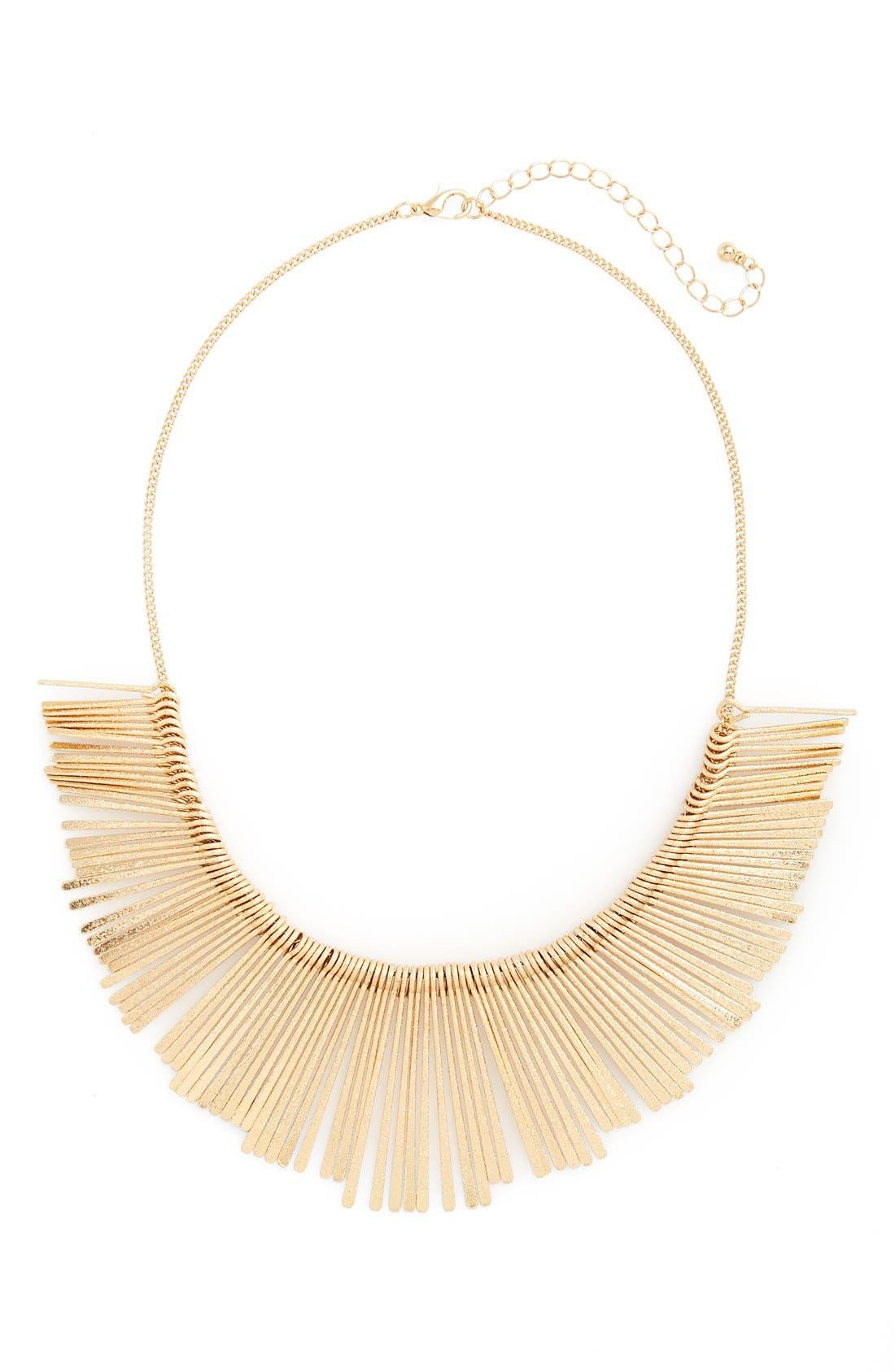 Stick Bib Necklace,                         Main,                         color, 710