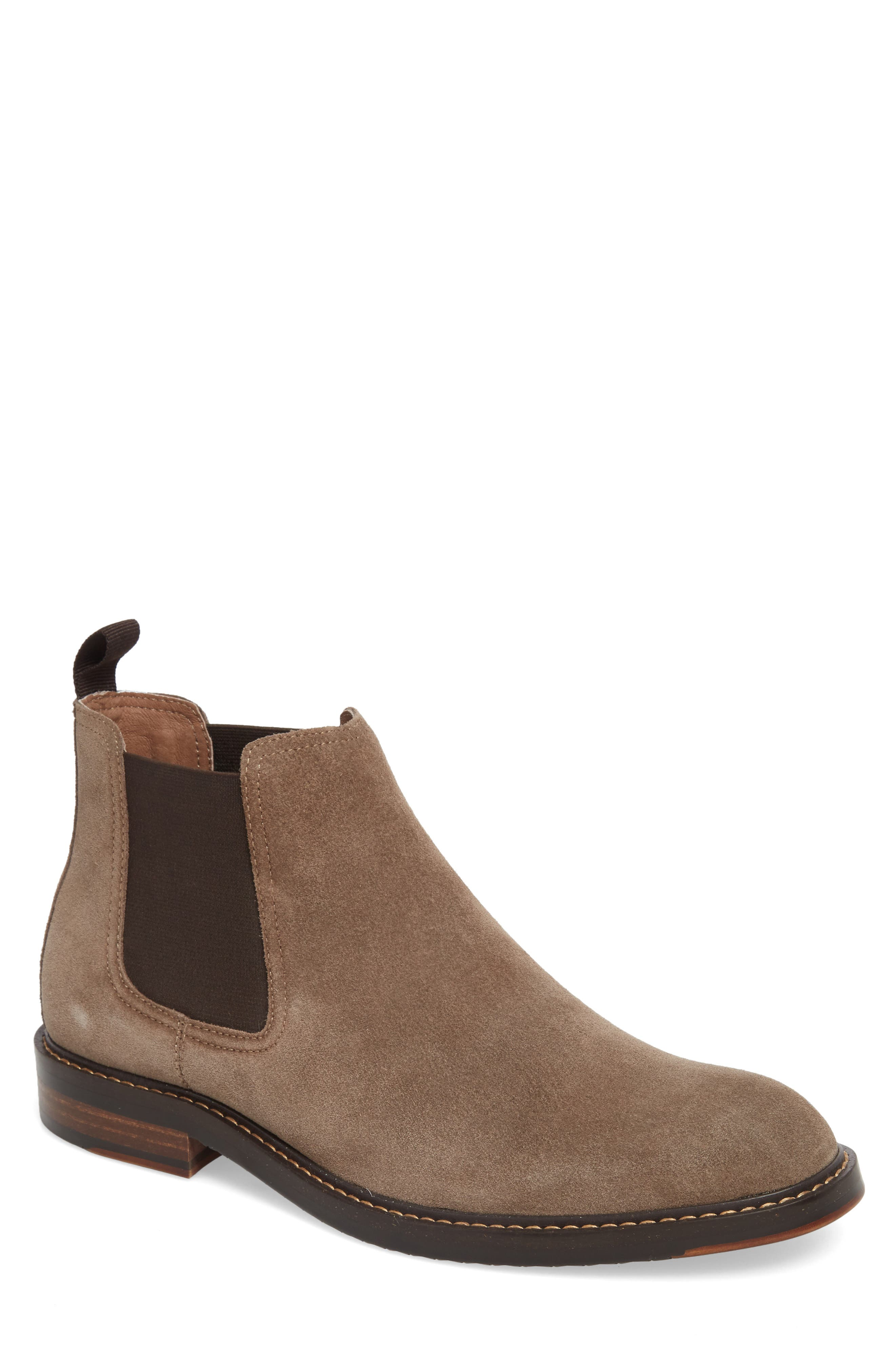 Brooks Chelsea Boot,                         Main,                         color, TAUPE SUEDE
