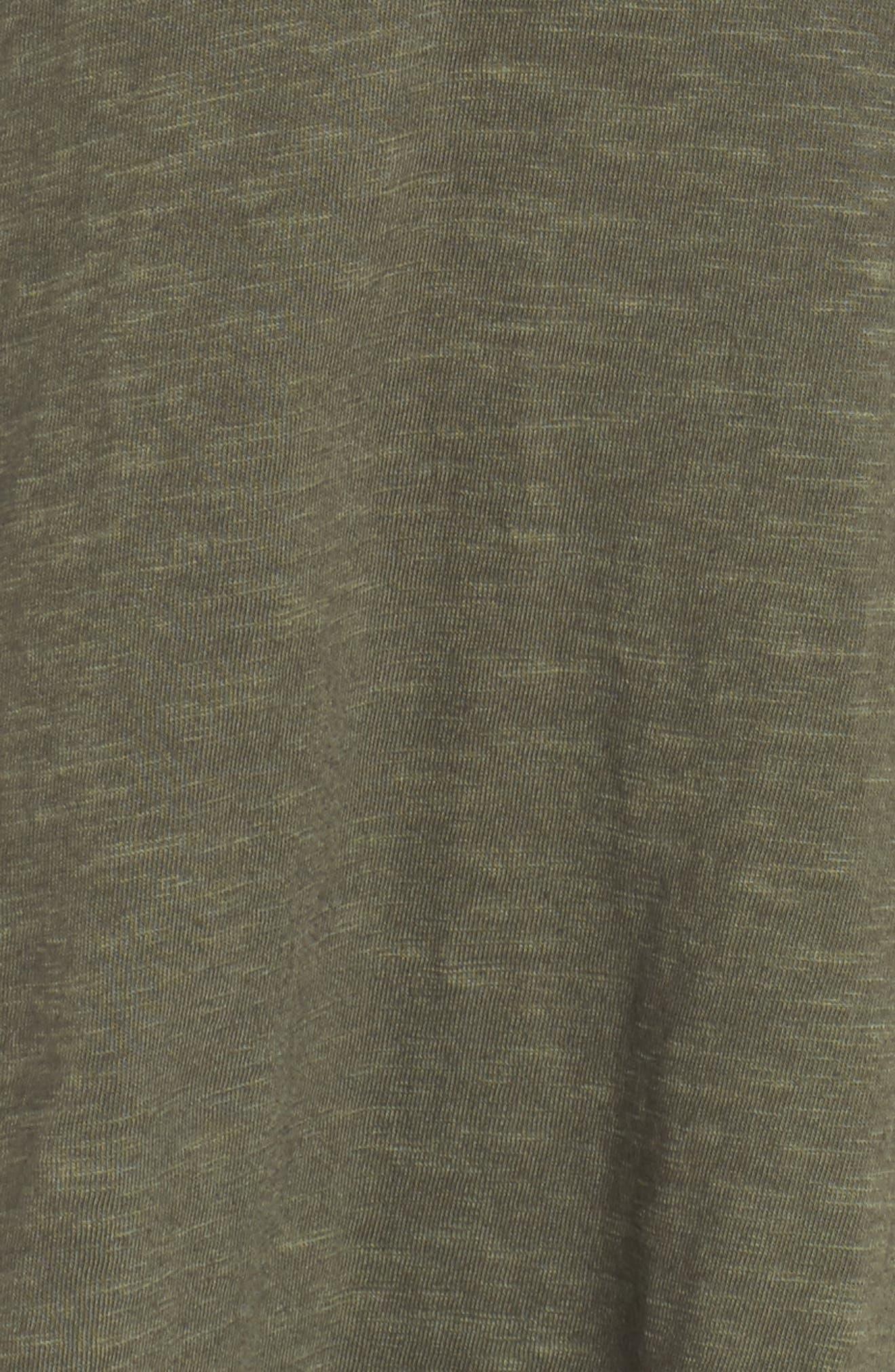 Twist Front Knit Dress,                             Alternate thumbnail 5, color,                             OLIVE SARMA