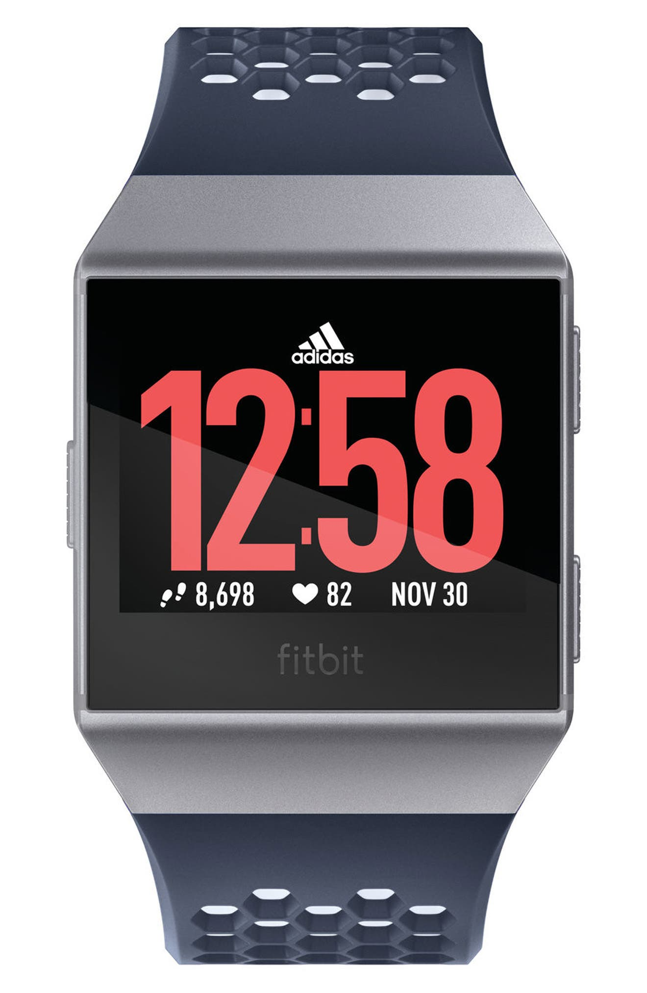 x adidas Ionic Watch,                             Alternate thumbnail 3, color,                             INK BLUE/ICE GRAY/SILVER GRAY