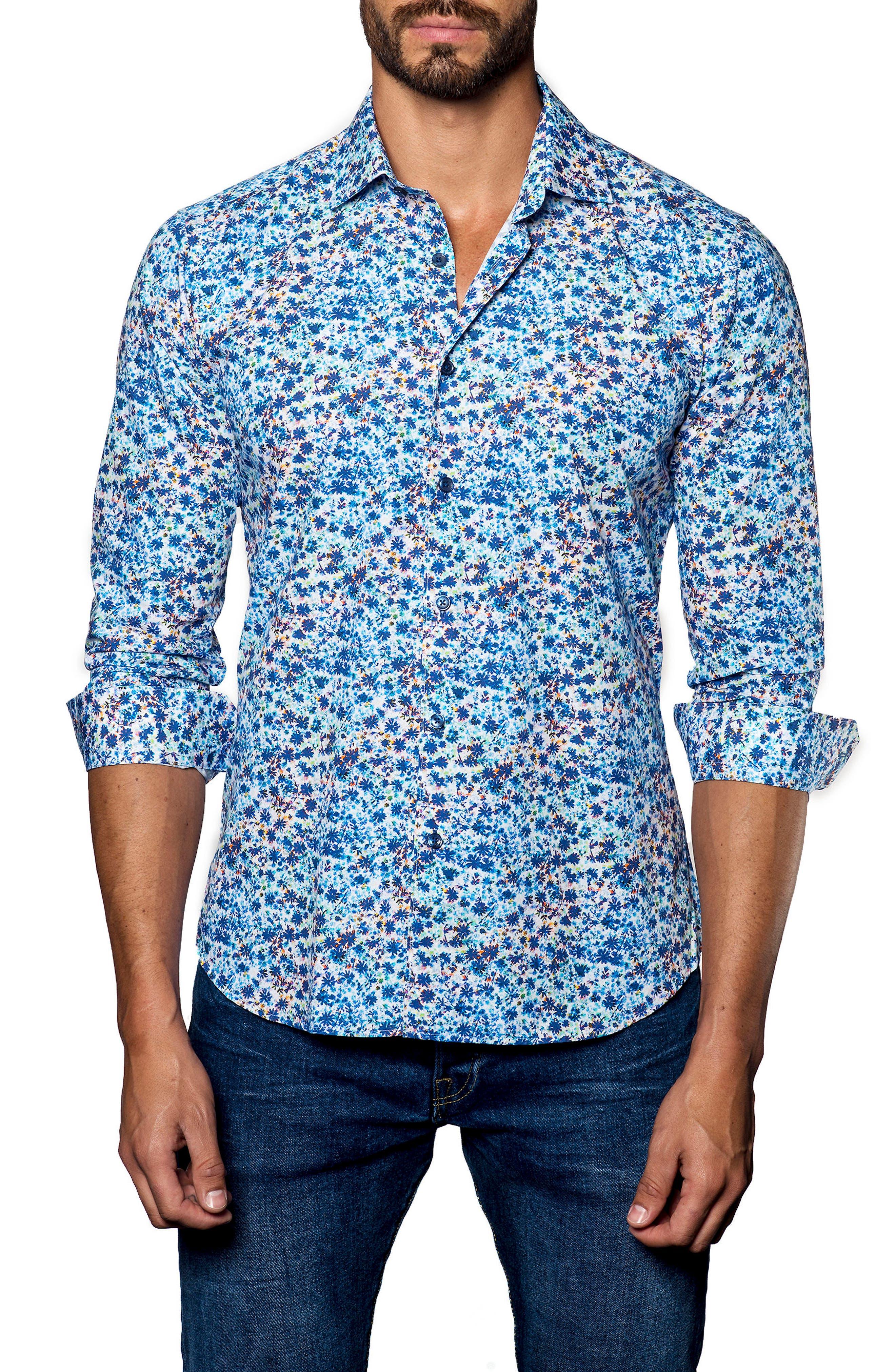 Trim Fit Print Sport Shirt,                         Main,                         color, 400