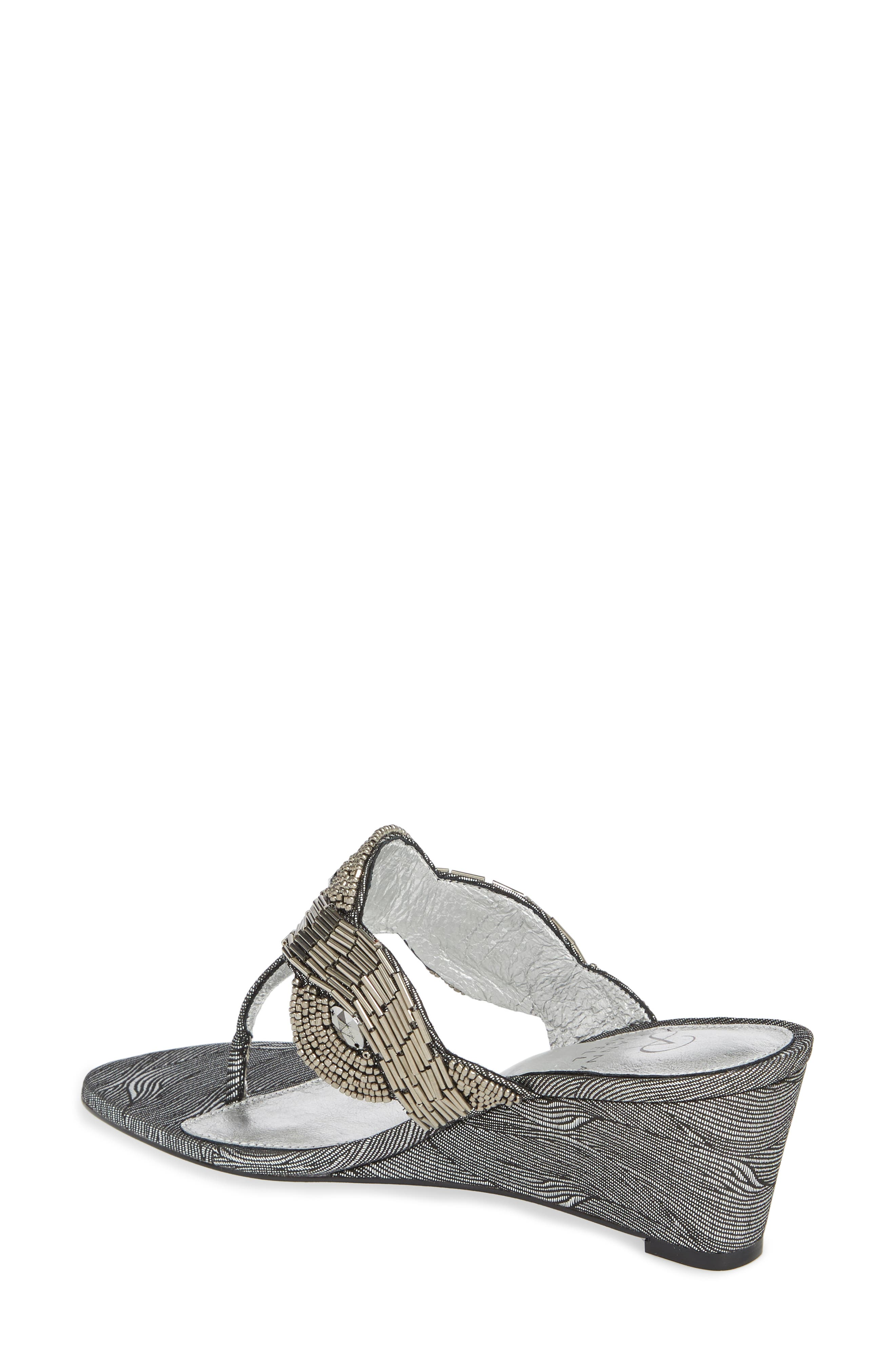 ADRIANNA PAPELL,                             Coco Beaded Wedge Sandal,                             Alternate thumbnail 2, color,                             049