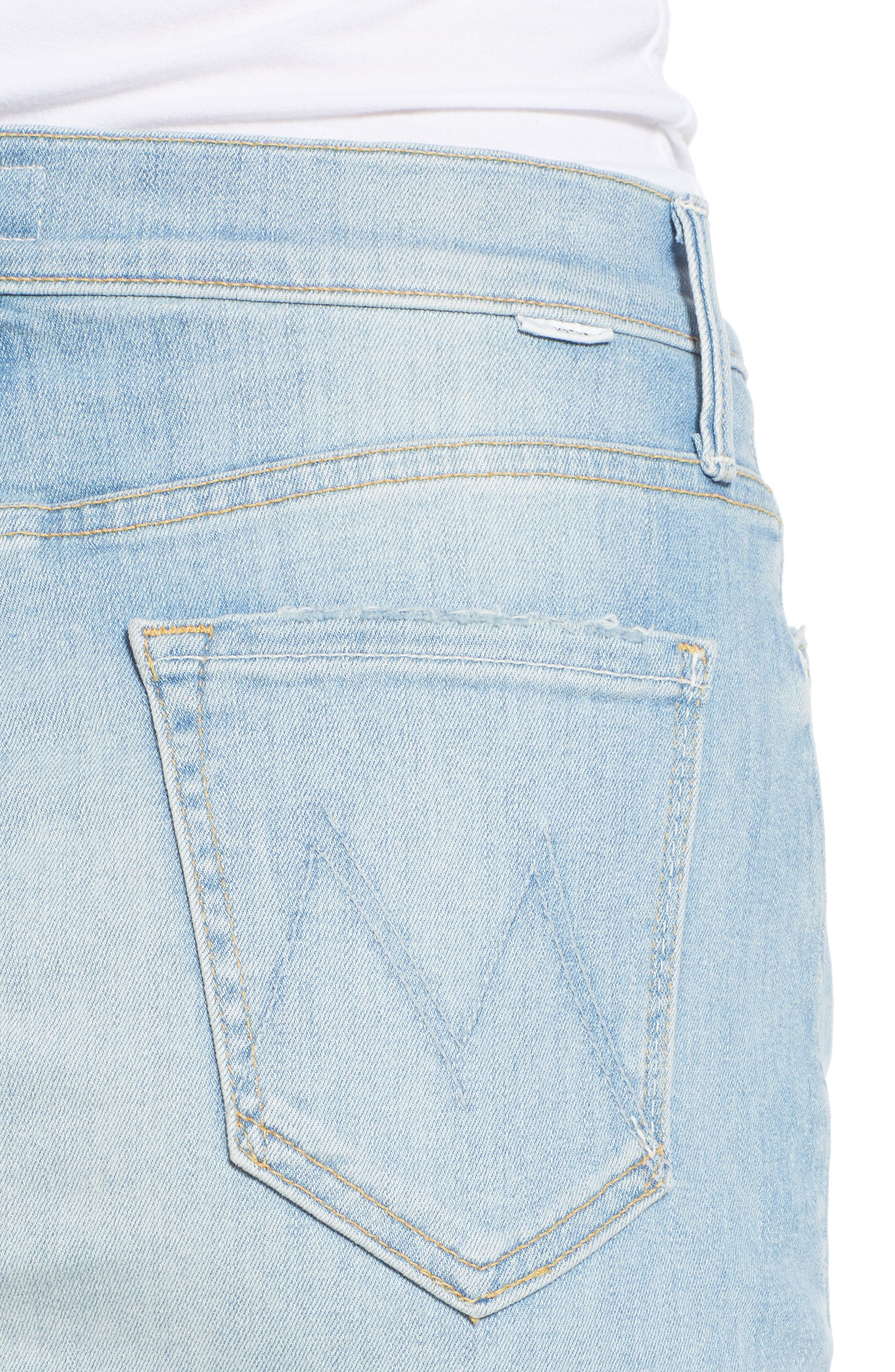 The Sacred Frayed High Waist Miniskirt,                             Alternate thumbnail 4, color,                             WRITTEN IN THE SAND