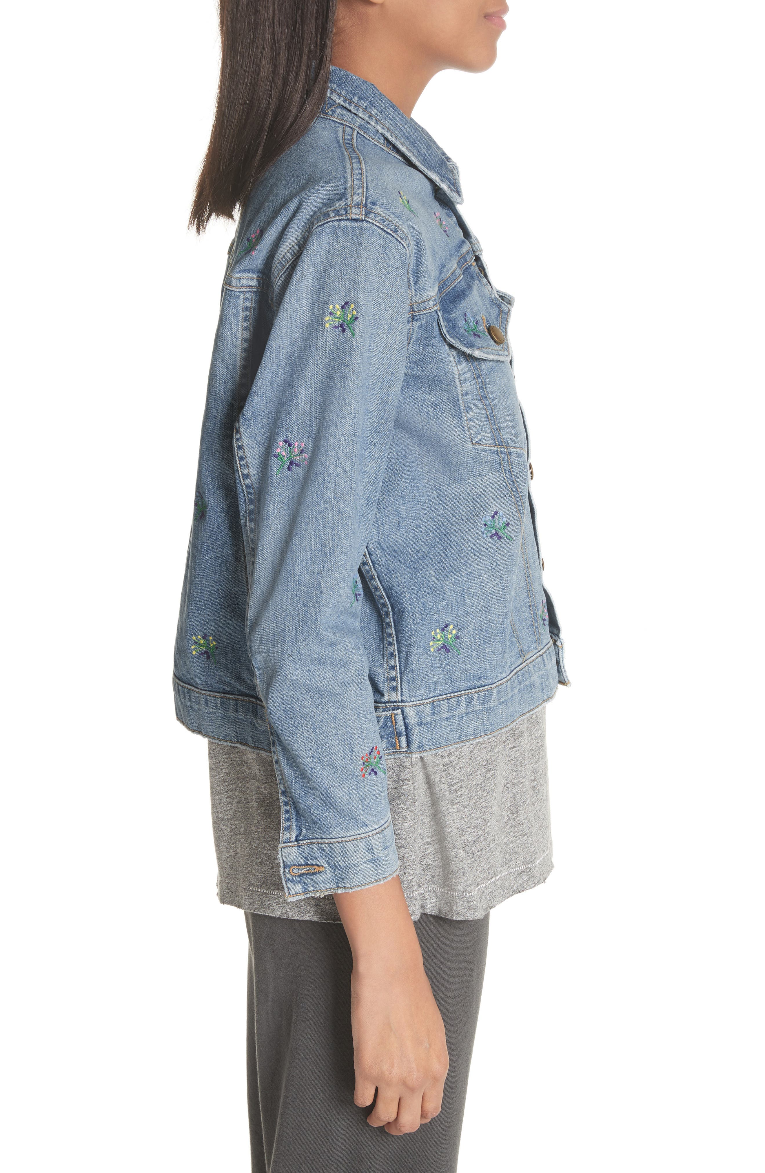 The Boxy Jean Jacket,                             Alternate thumbnail 3, color,                             400