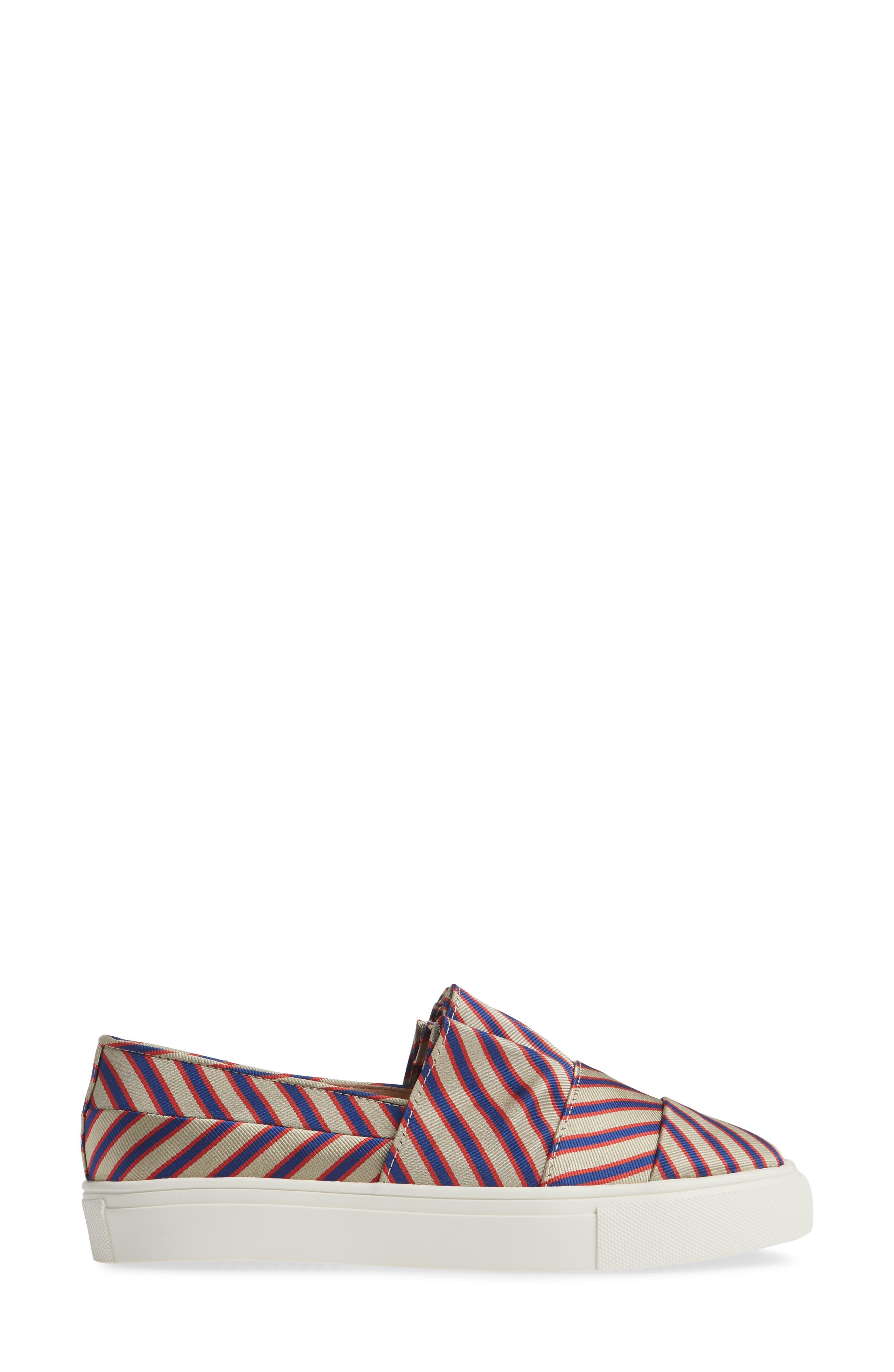 Rooney Slip-On Sneaker,                             Alternate thumbnail 3, color,                             RED/ WHITE/ BLUE FABRIC