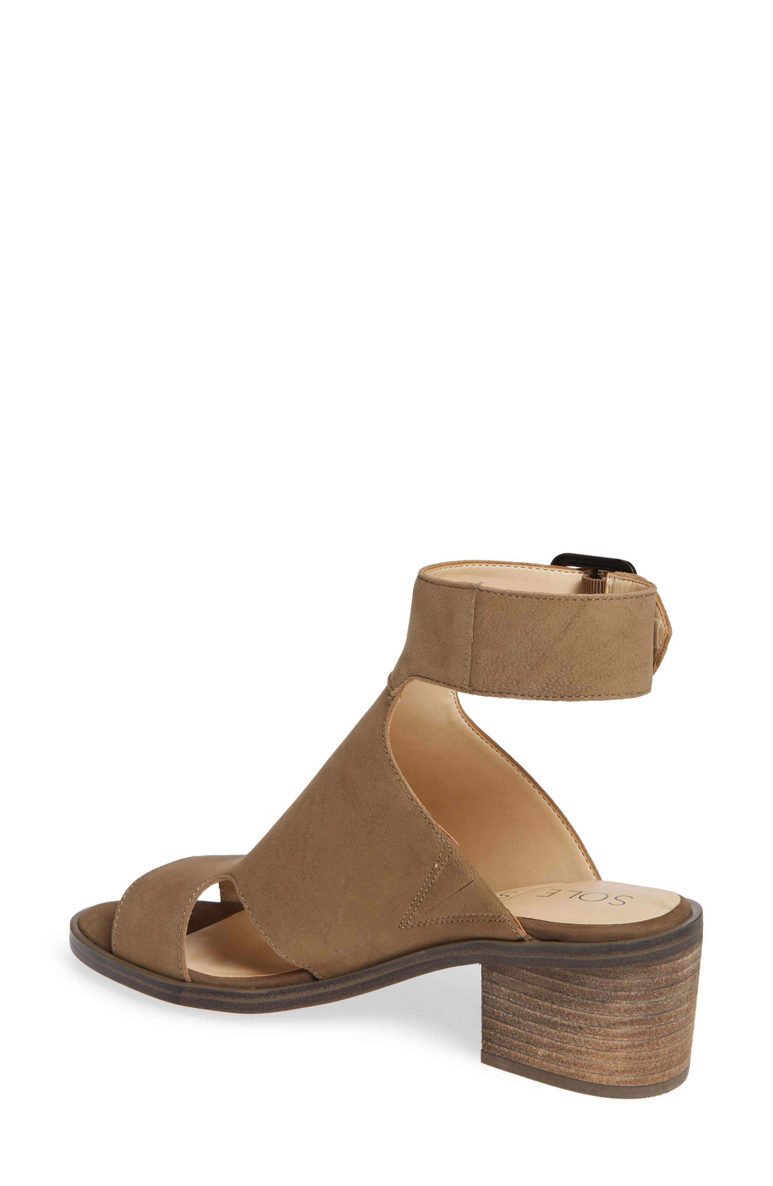 Tally Ankle Cuff Sandal,                             Alternate thumbnail 2, color,                             ANTIQUE GREEN NUBUCK