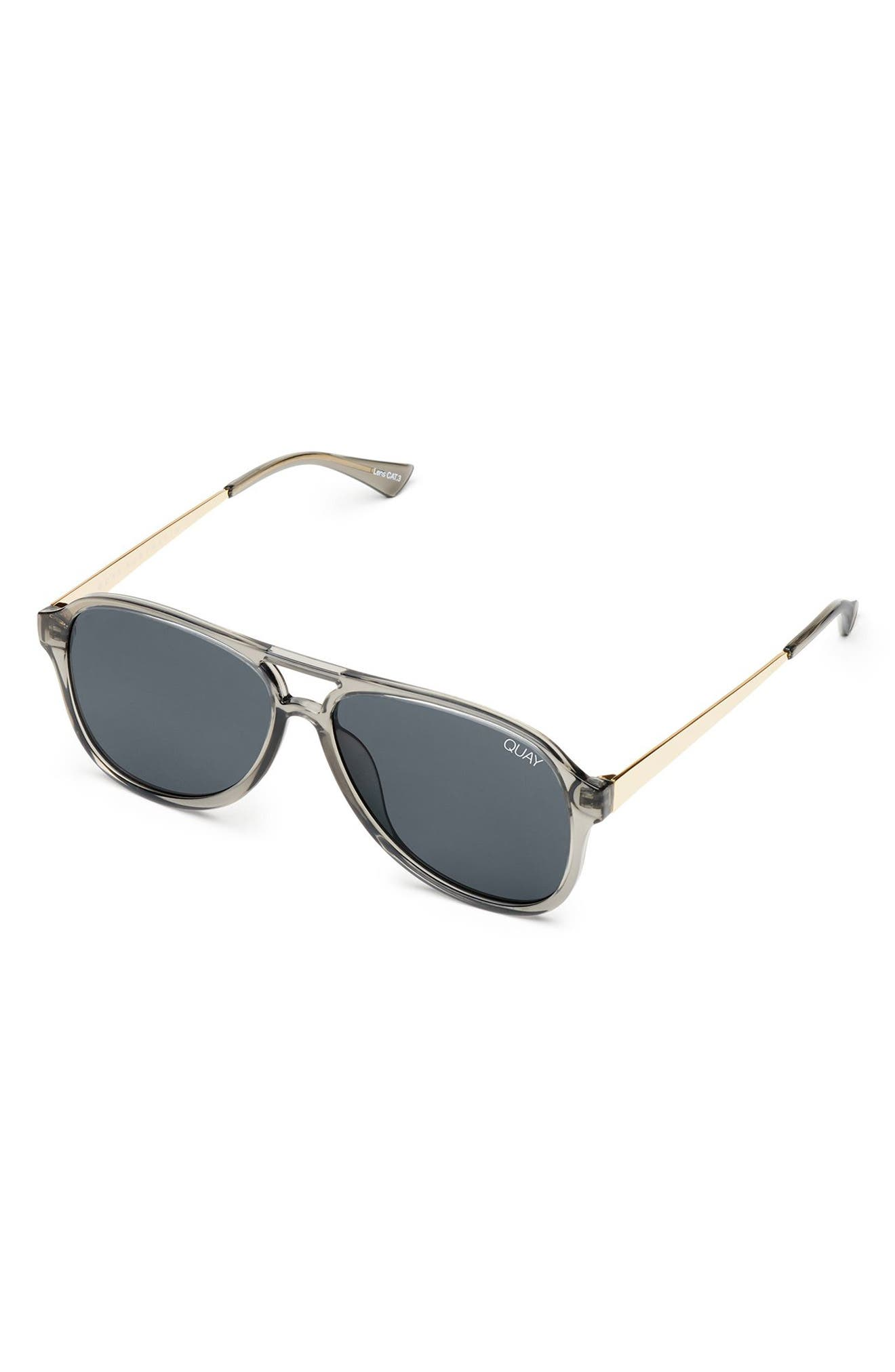 Under Pressure 58mm Aviator Sunglasses,                             Alternate thumbnail 4, color,                             GREY/ SMOKE