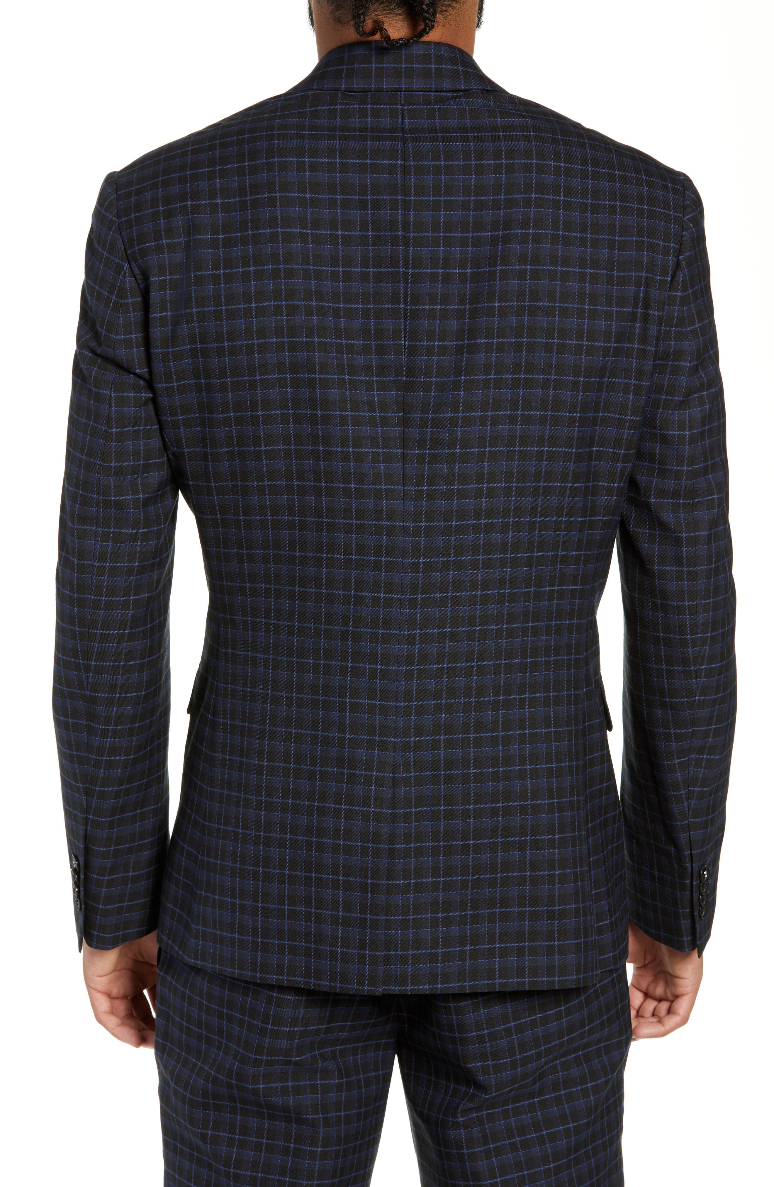 Alsager Slim Fit Check Suit Jacket,                             Alternate thumbnail 2, color,                             021