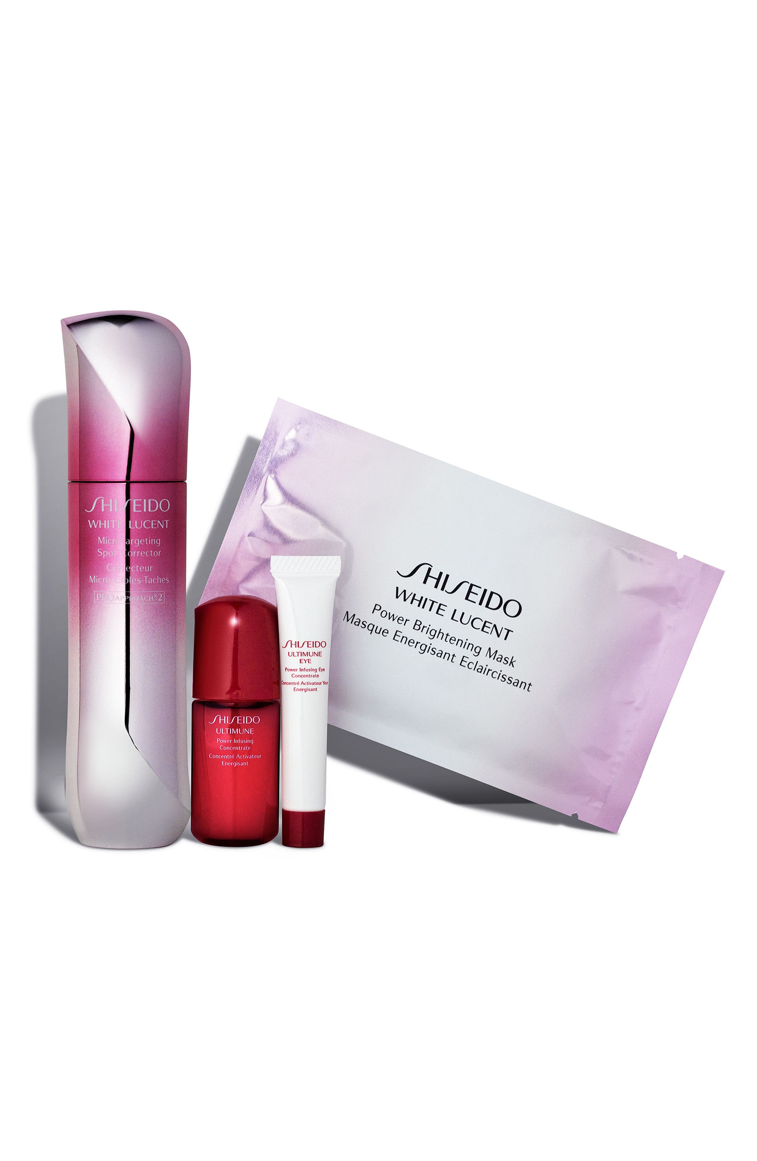 White Lucent Brightening Set,                             Main thumbnail 1, color,                             000