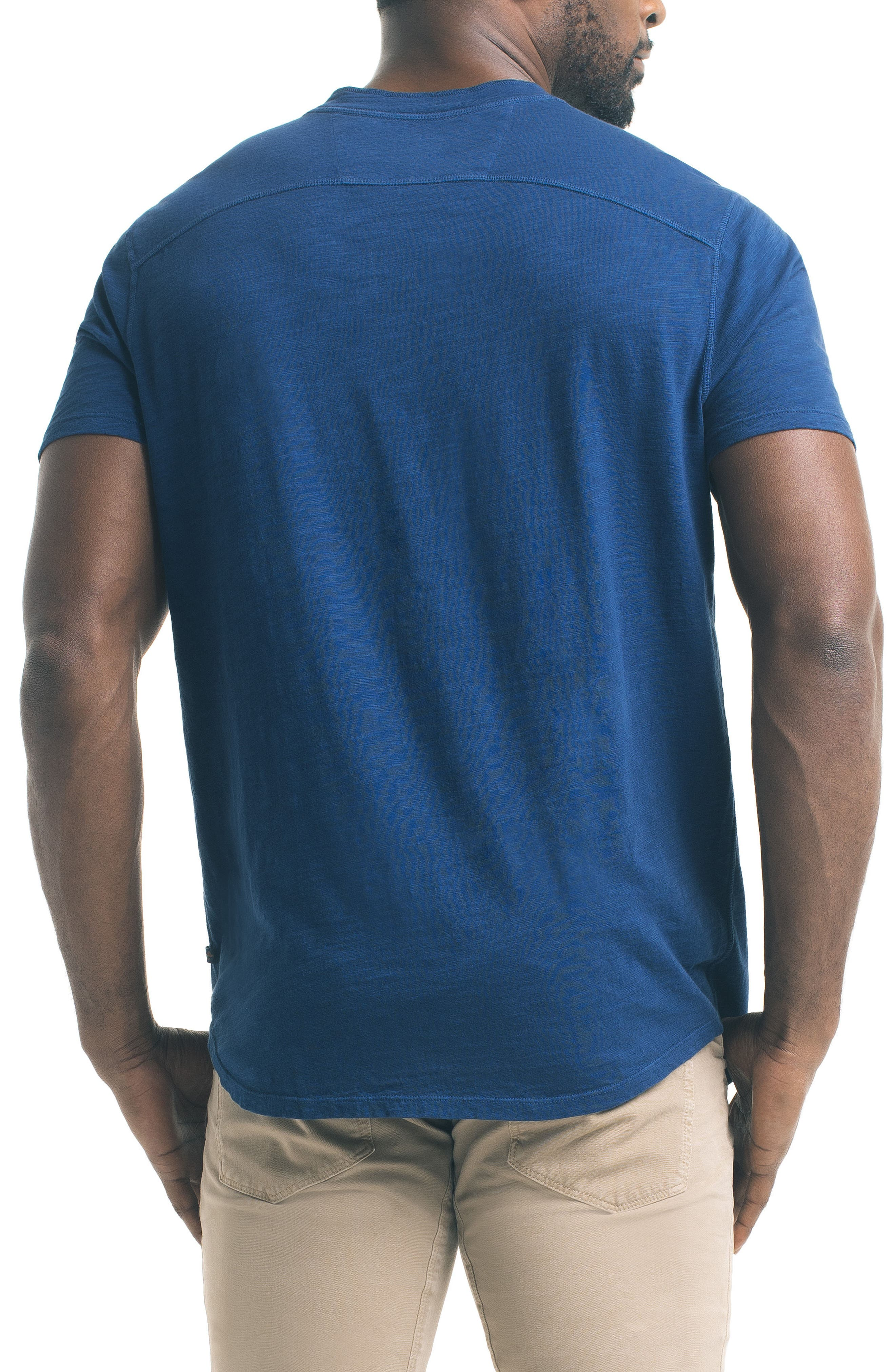 Short Sleeve Slub Henley,                             Alternate thumbnail 10, color,